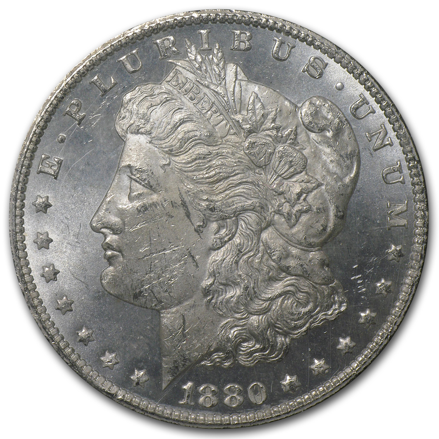 1880/79-CC Morgan Dollar Rev of 78 MS-62 PCGS (GSA Certified)