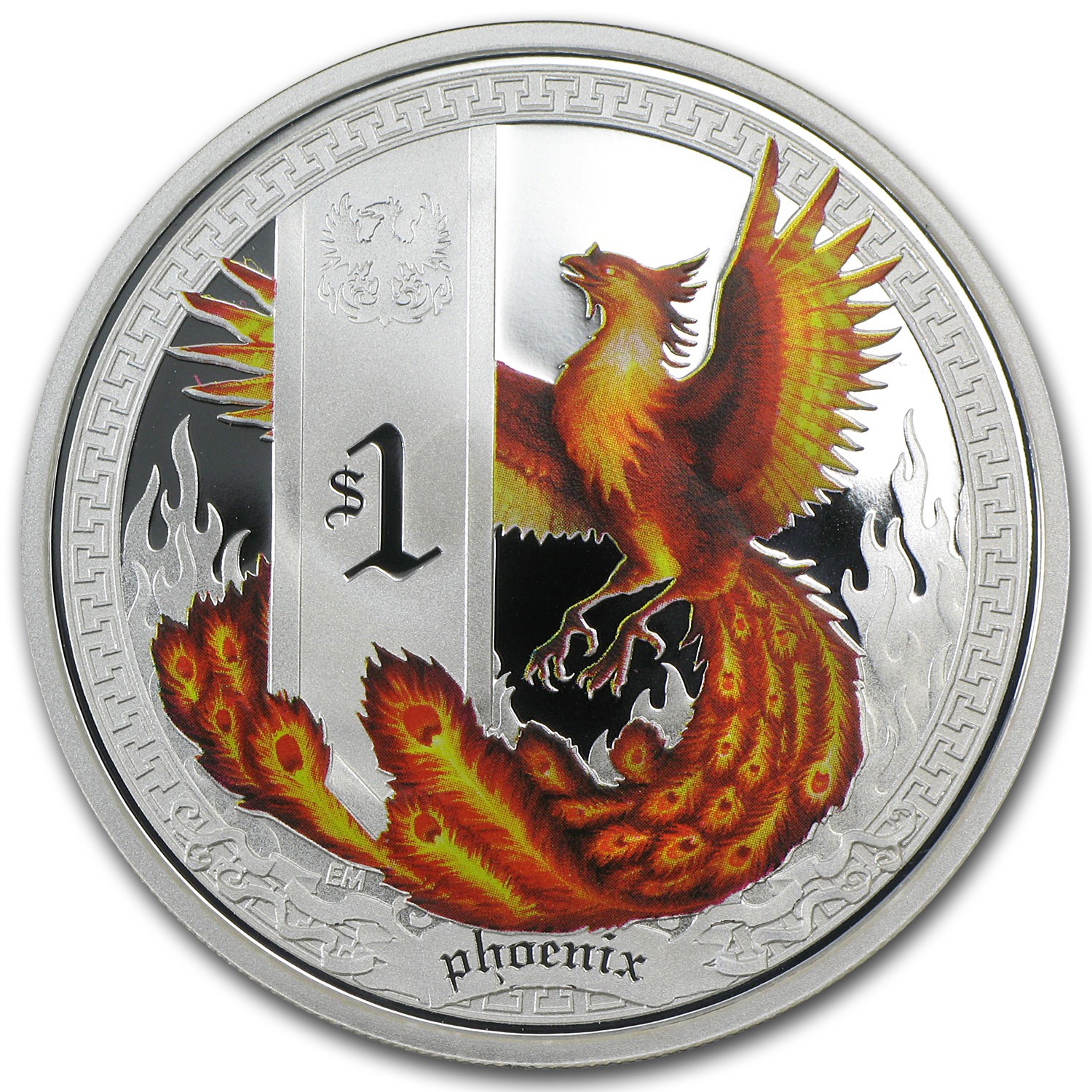2013 1 oz Proof Silver Mythical Creatures - Phoenix