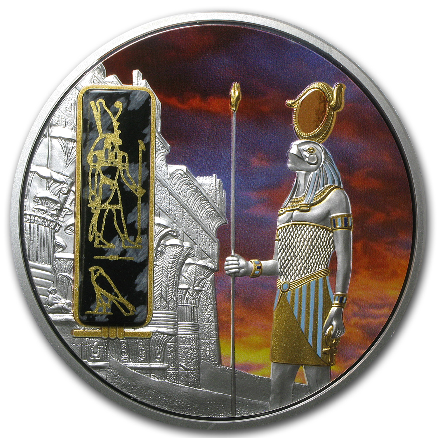 Fiji 2013 2 oz Silver $50 Egyptian Jewels-Horus (God of the Sky)