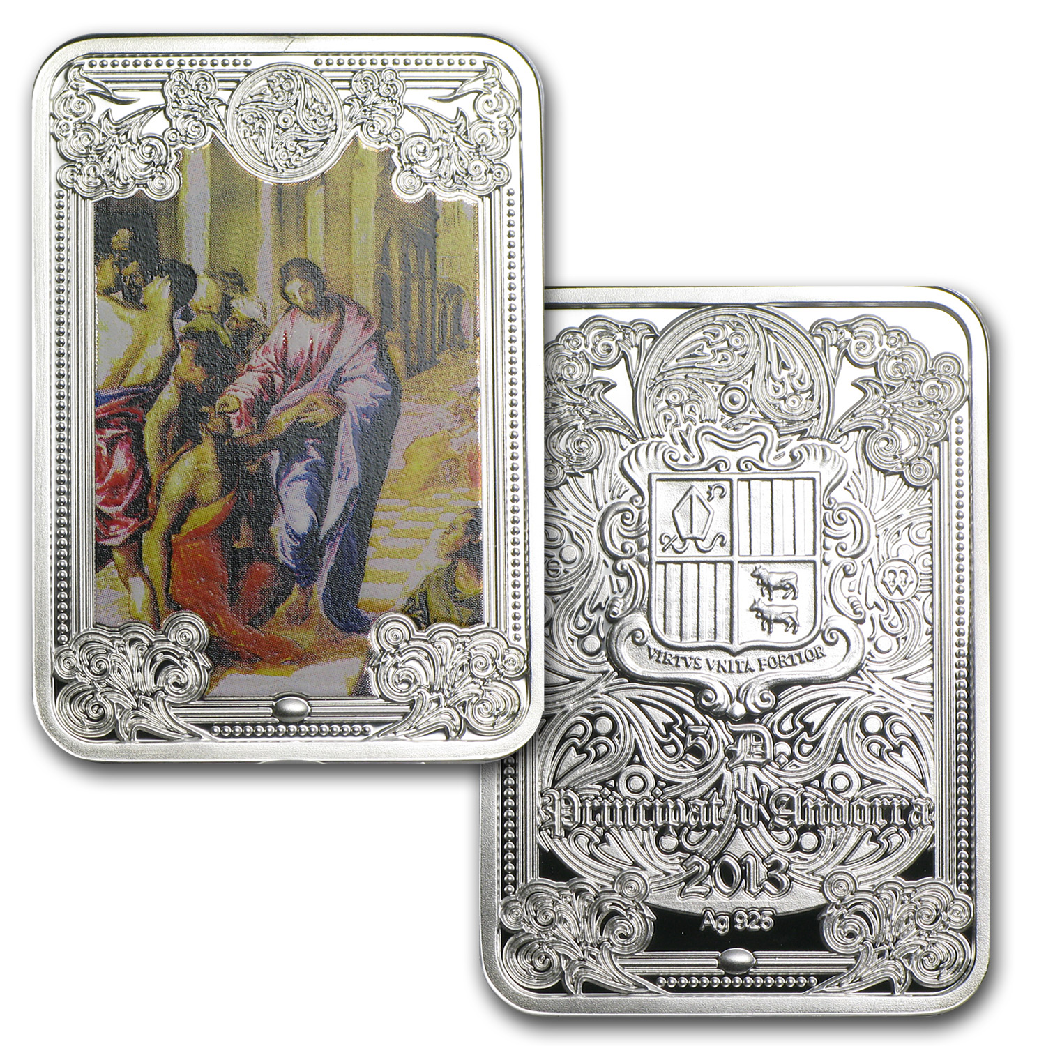2012 Andorra 8-Coin Silver The Wonders of Jesus Christ Proof Set