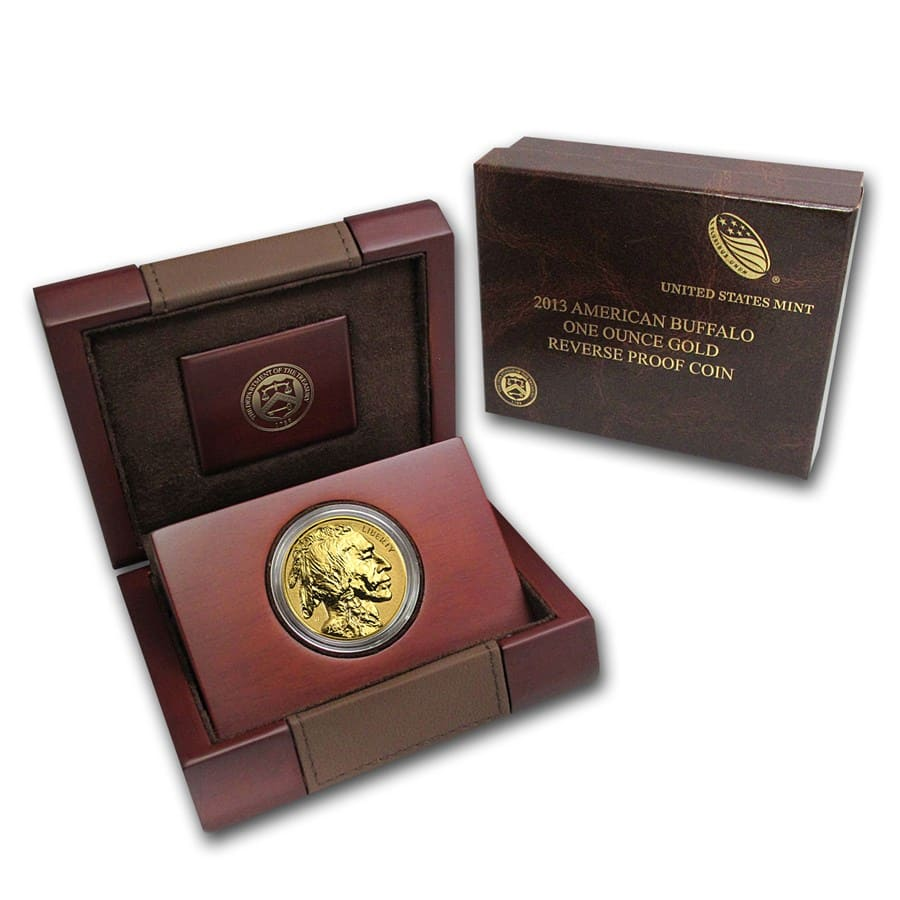 2013-W 1 oz Reverse Proof Gold Buffalo (w/Box & COA)