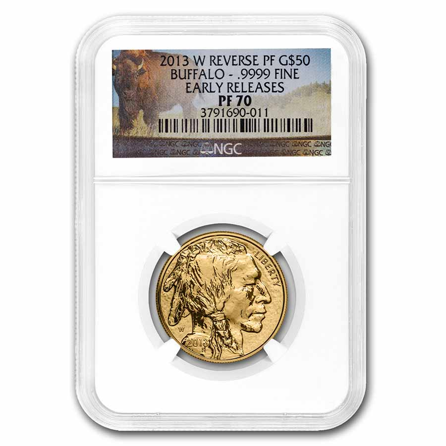 2013-W 1 oz Reverse Proof Gold Buffalo PF-70 NGC (ER)
