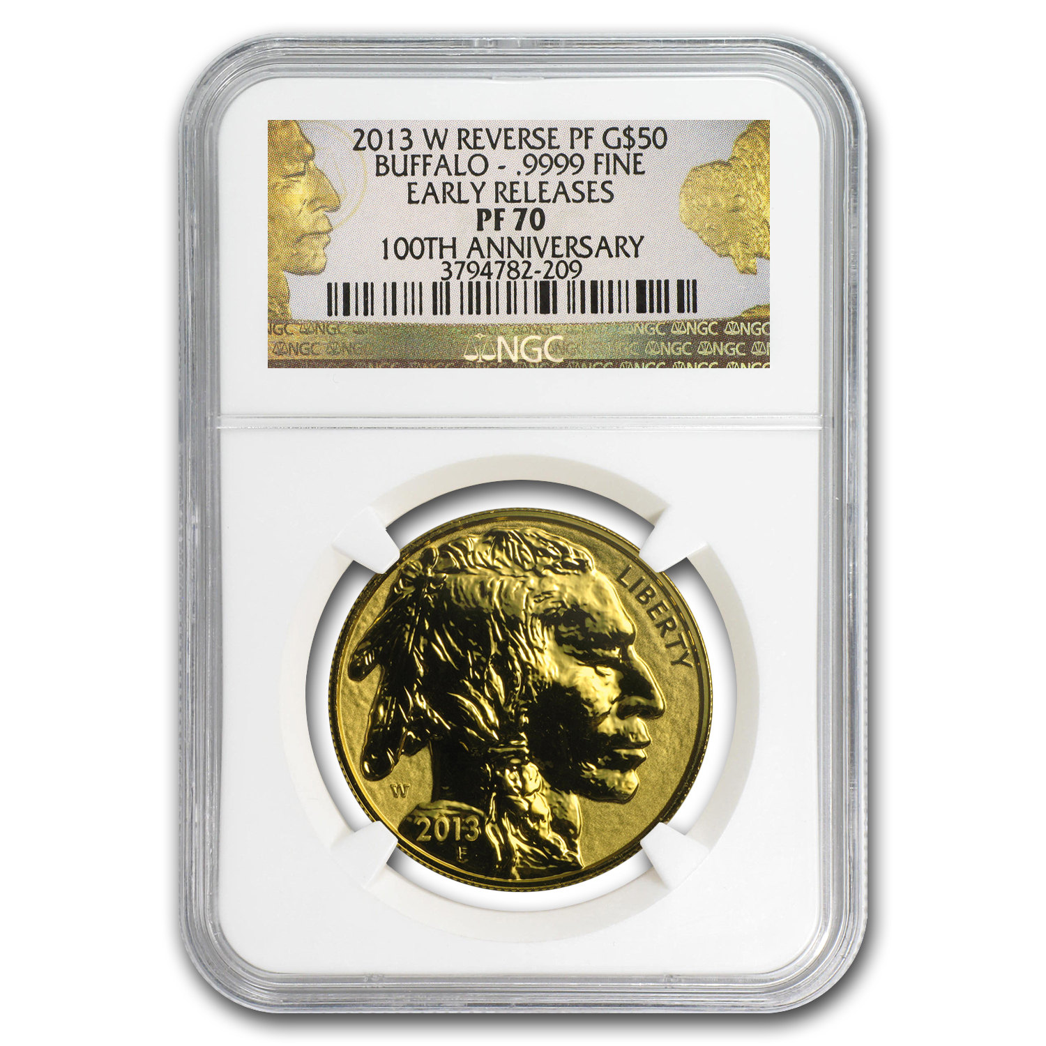 2013-W 1 oz Reverse Proof Gold Buffalo PF-70 NGC Early Releases