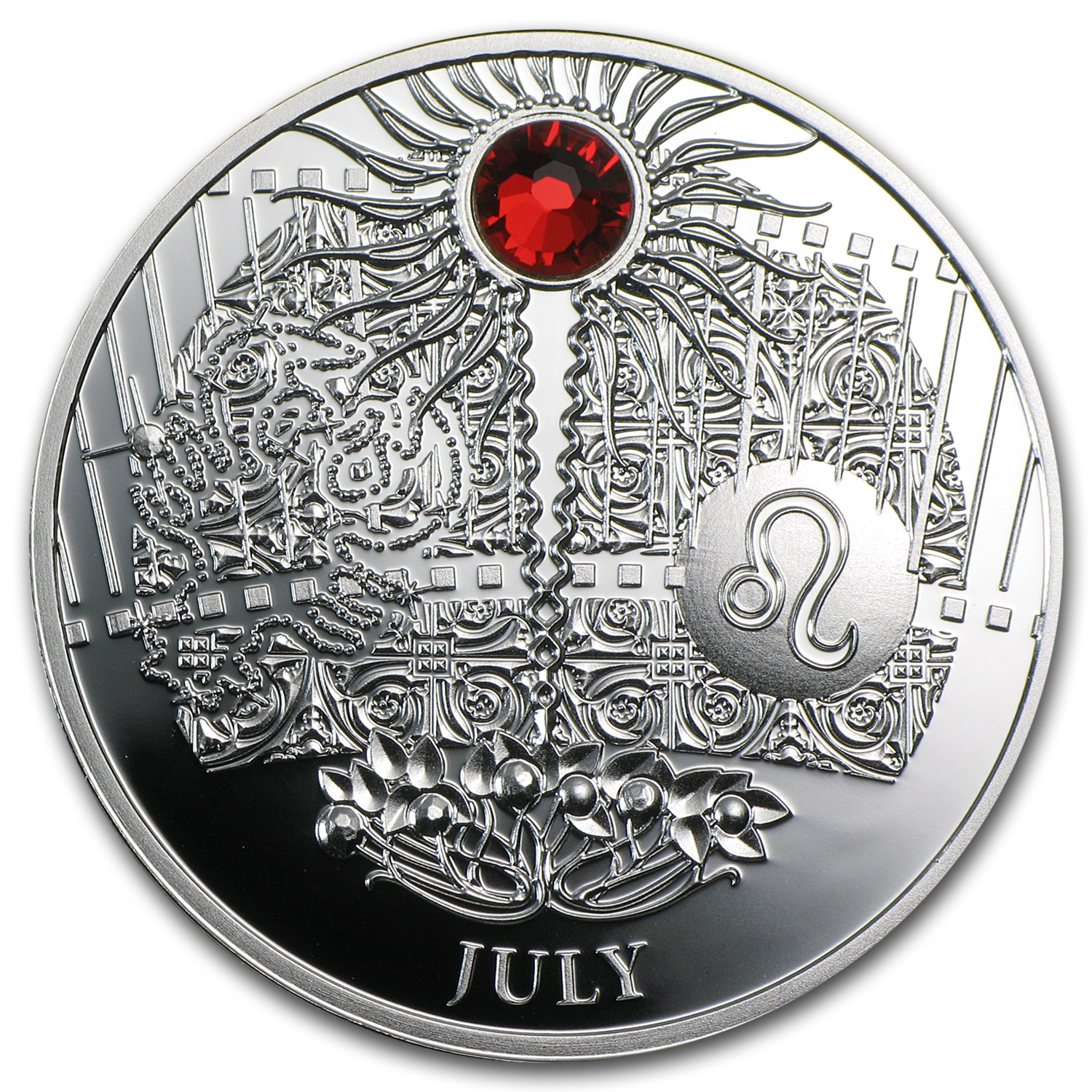 2013 Niue Proof Silver $1 Magic Calendar of Happines July