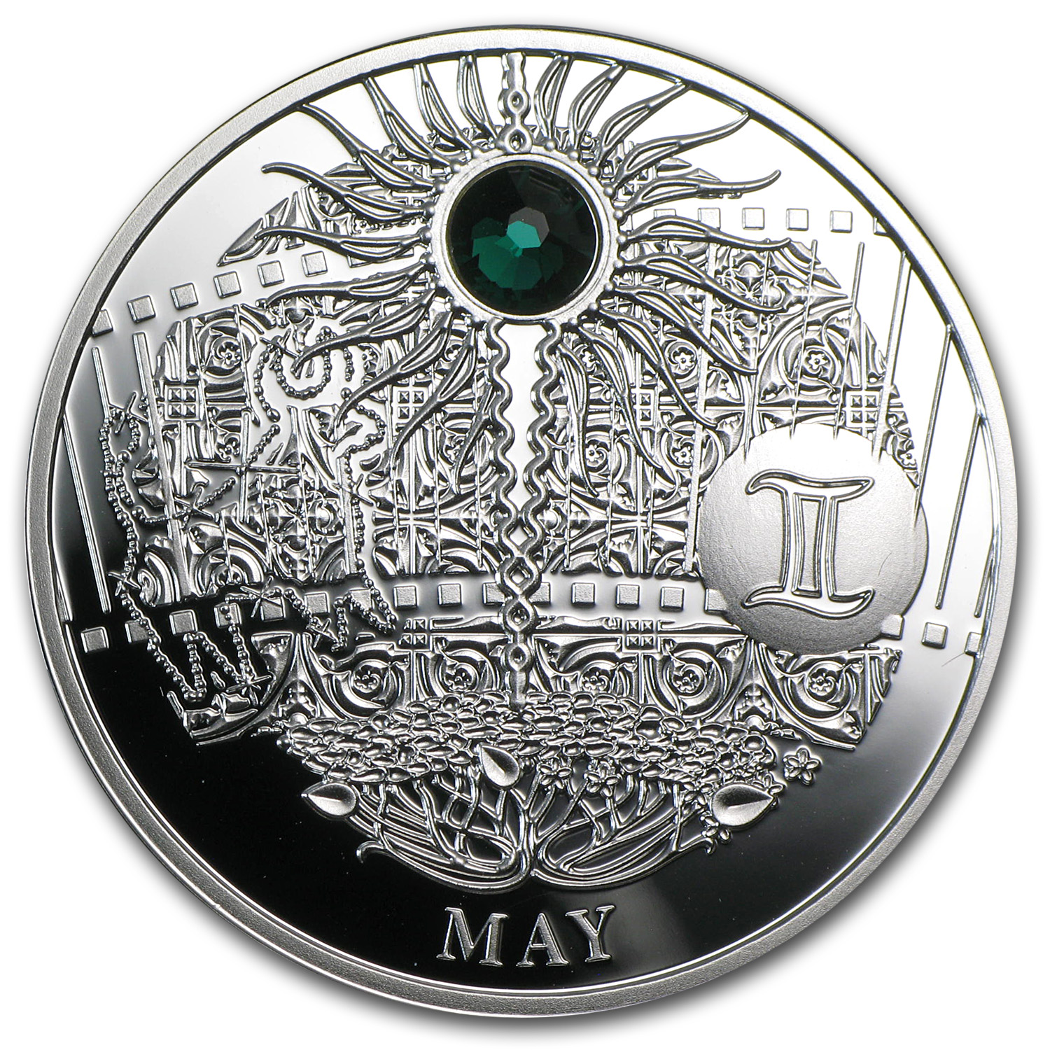 2013 Niue Proof Silver $1 Magic Calendar of Happines May