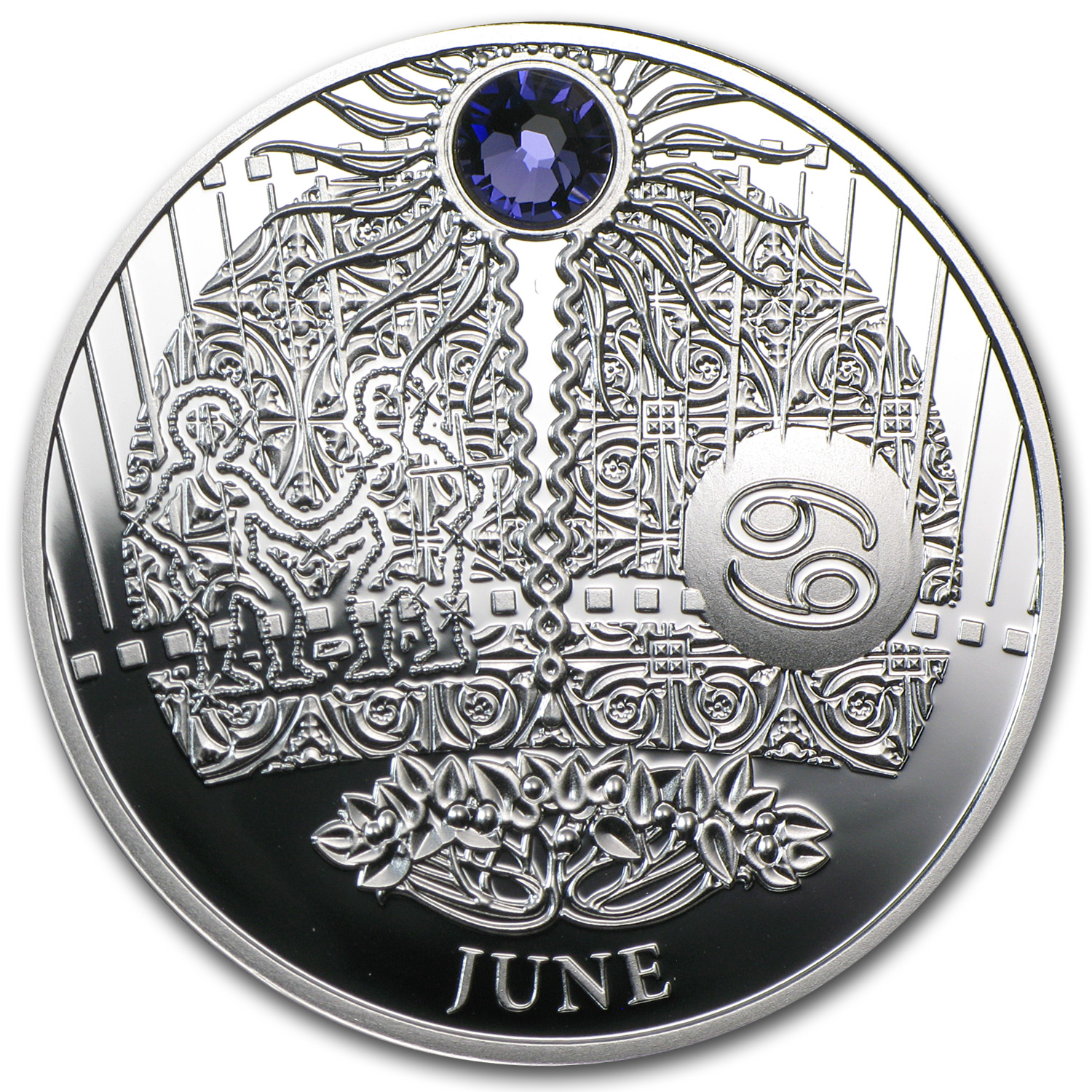 Niue 2013 Proof Silver $1 Magic Calendar of Happines - June