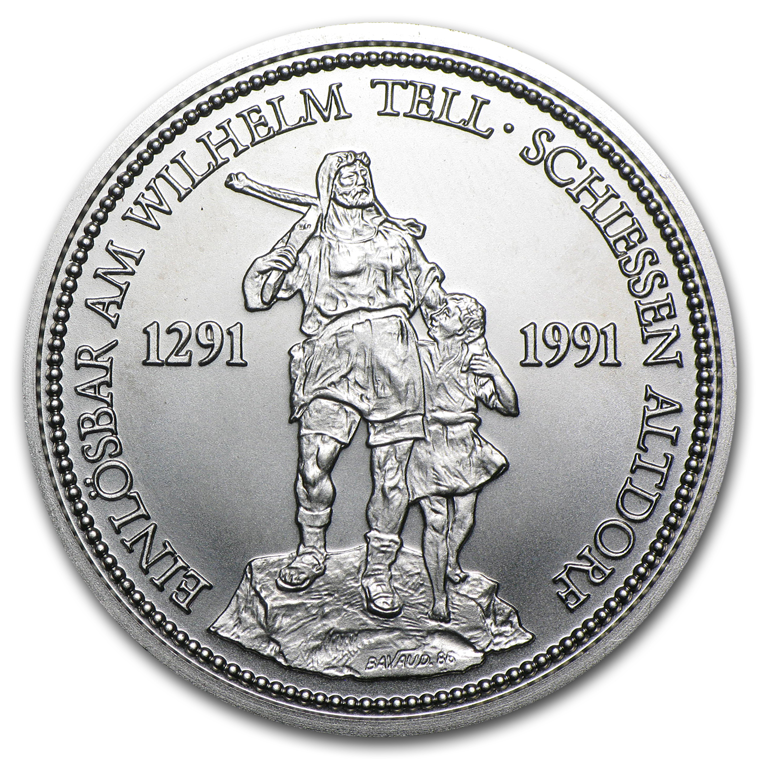 1 oz Swiss Platinum Shooting Thalers (Brilliant Uncirculated)
