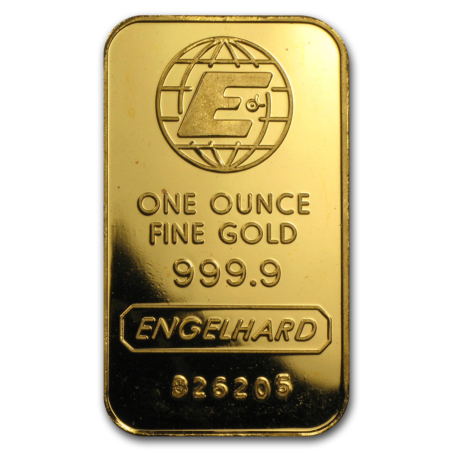 1 oz Gold Bar - Engelhard ('E' logo, No Assay)