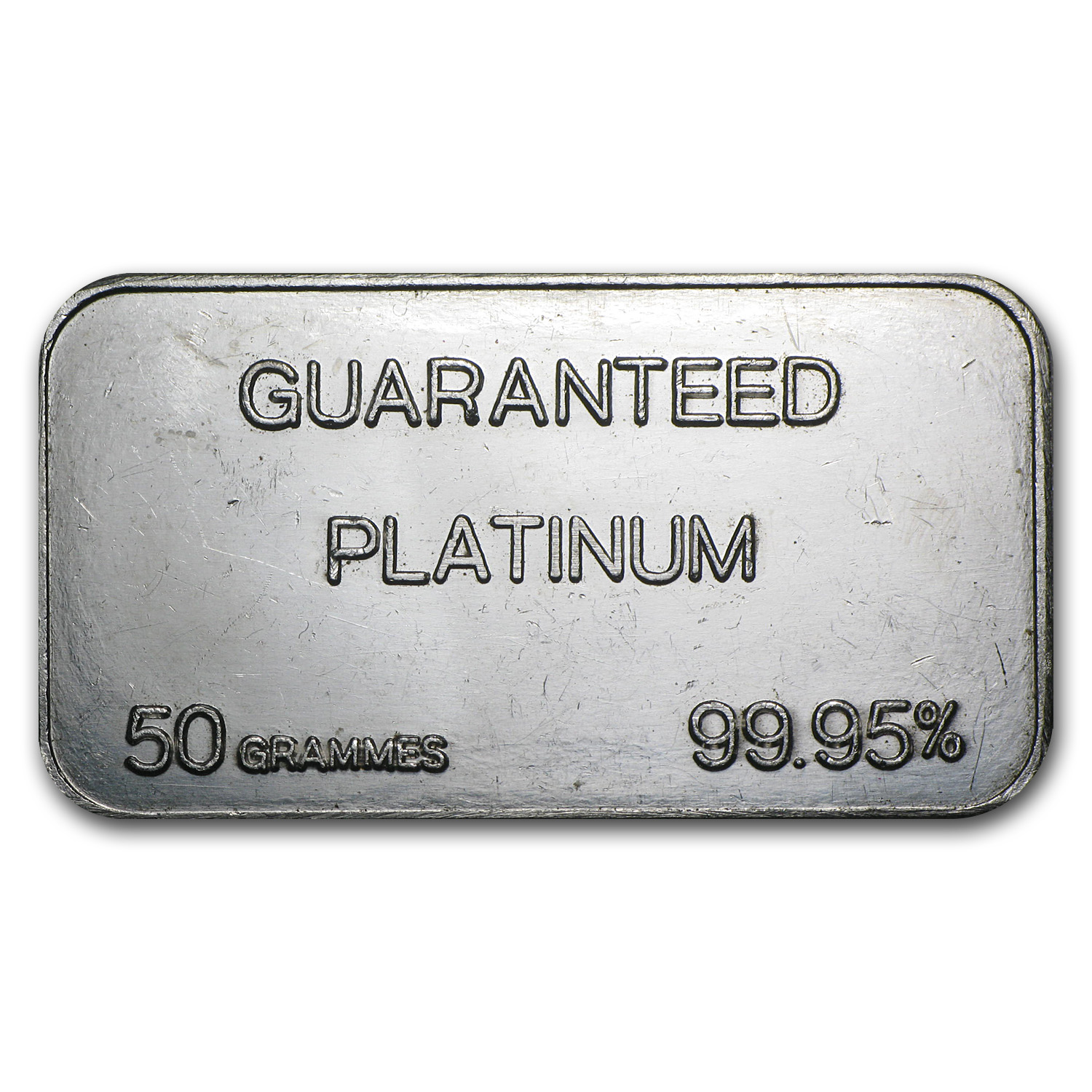 50 gram Platinum Bar - Secondary Market (.999+ Fine)