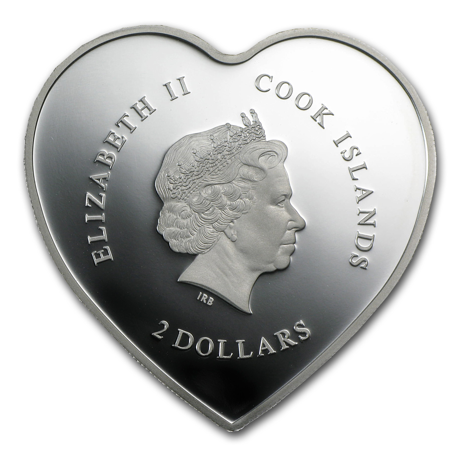 2013 Cook Islands Proof Silver $2 Birthday Heart Girl