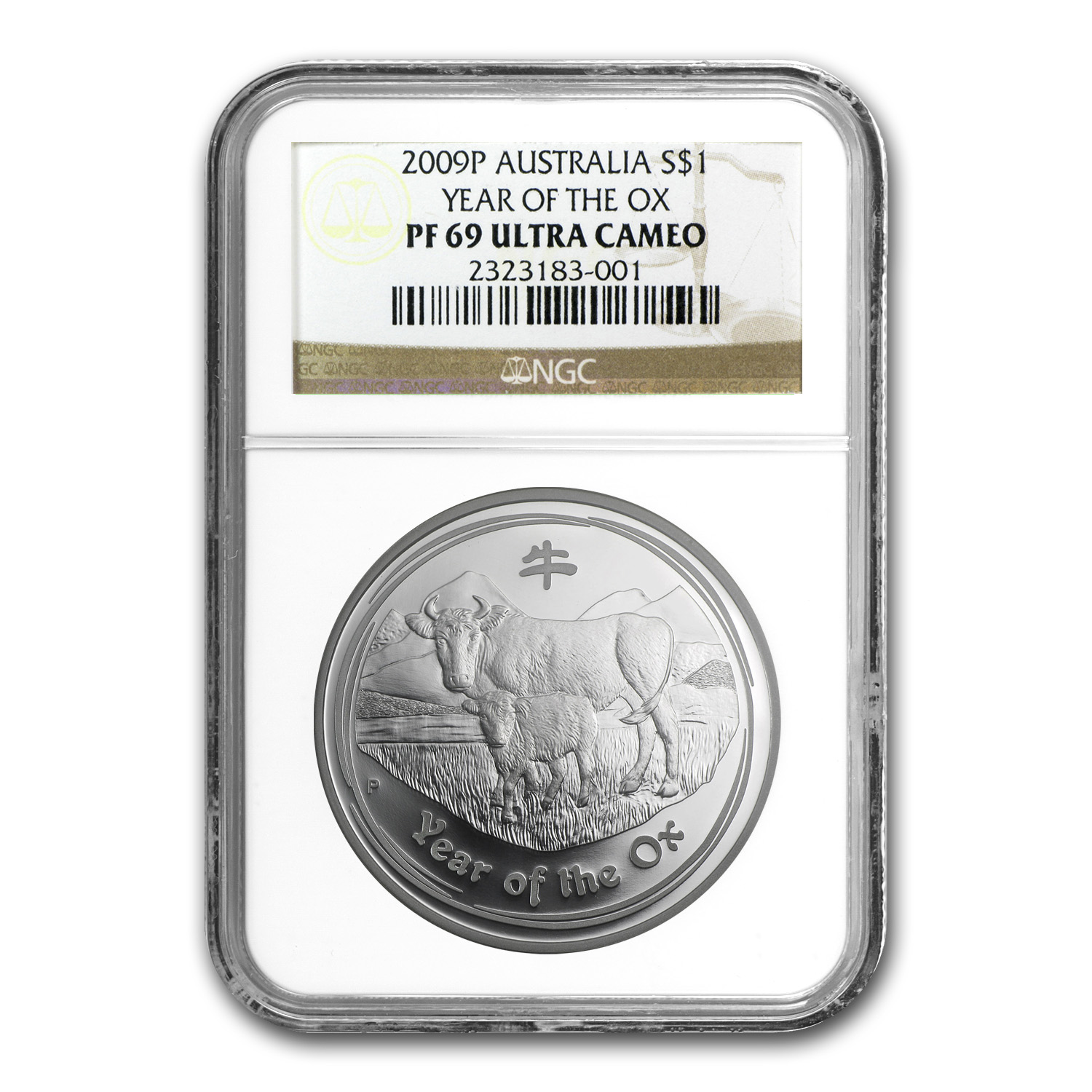 2009 1 oz Silver Australian Year of the Ox PF-69 NGC (Series II)