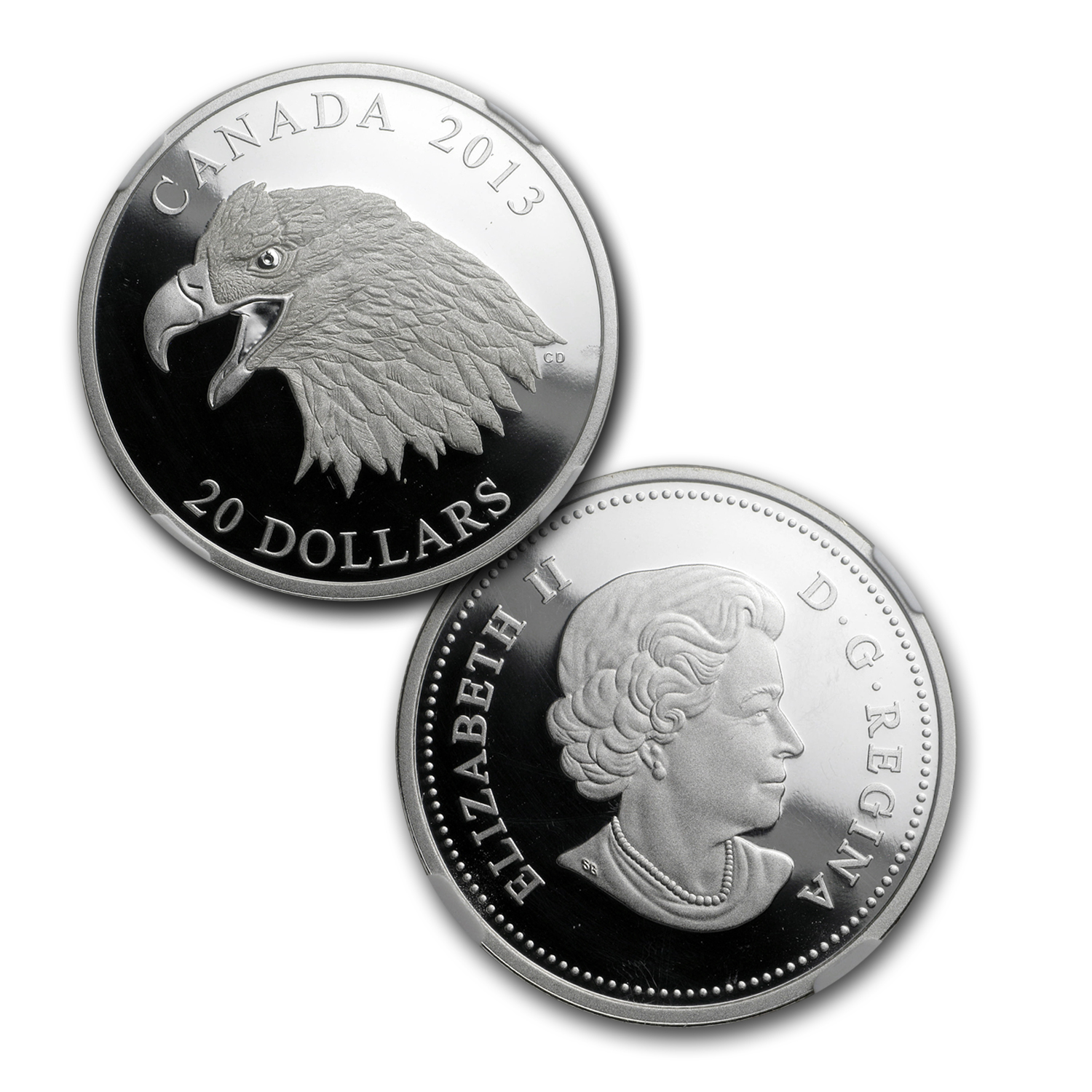 2013 Canada 1 oz Silver $20 The Bald Eagle