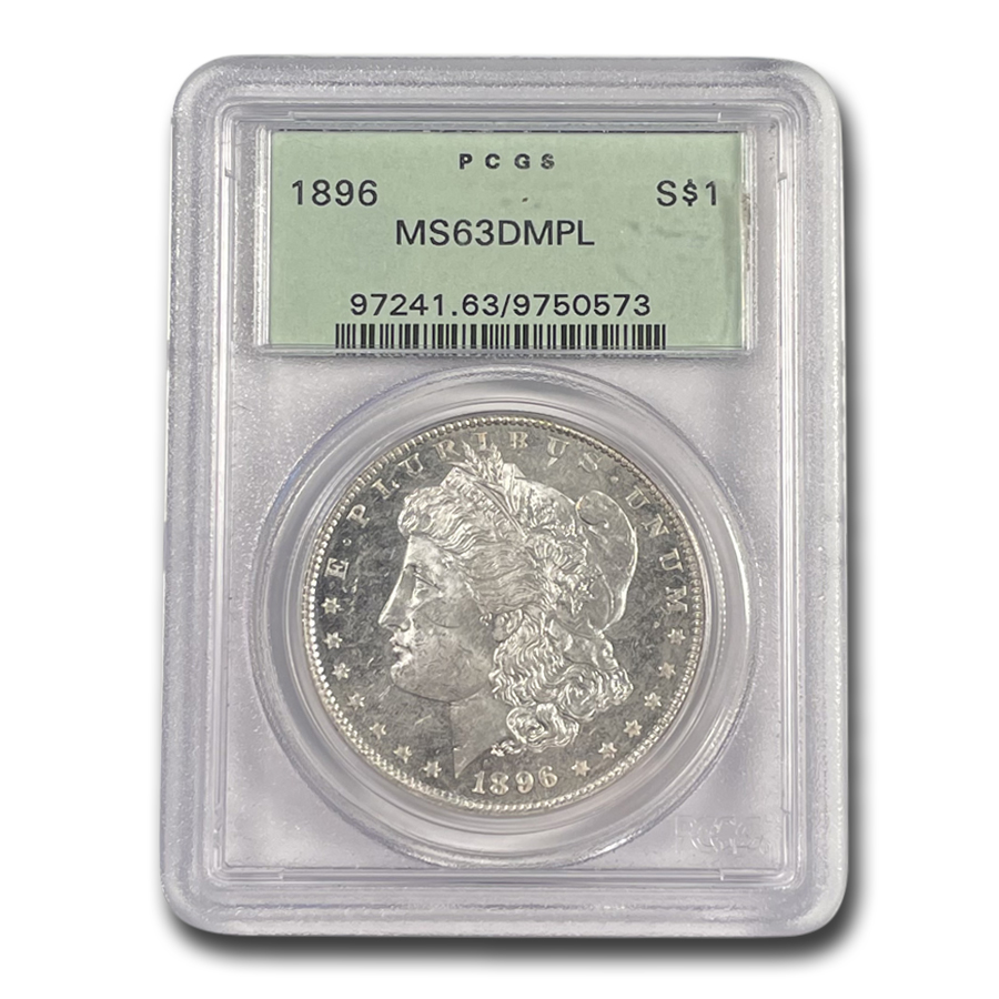 1896 Morgan Dollar - MS-63 DMPL Deep Mirror Proof Like PCGS