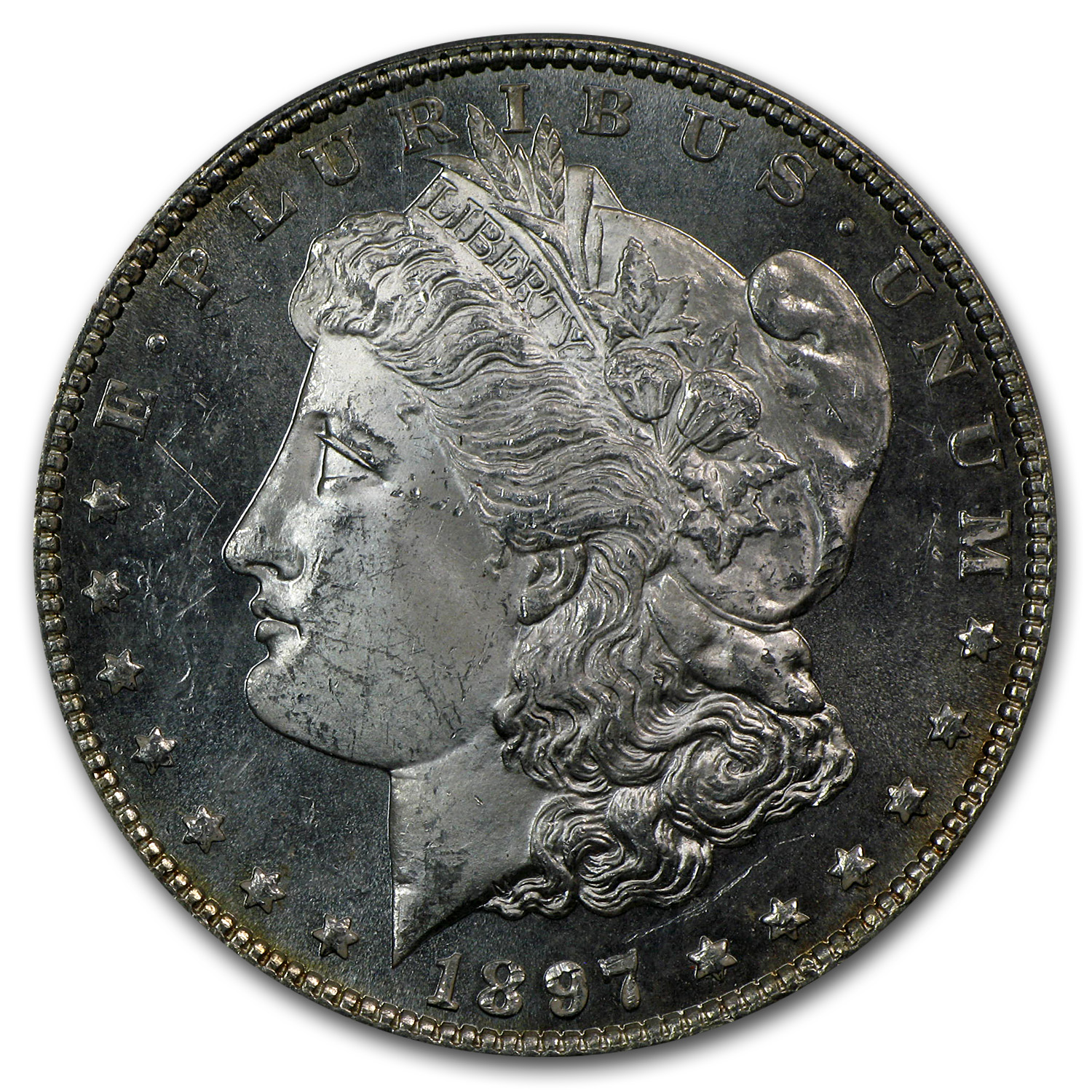 1897 Morgan Dollar MS-64 DMPL PCGS