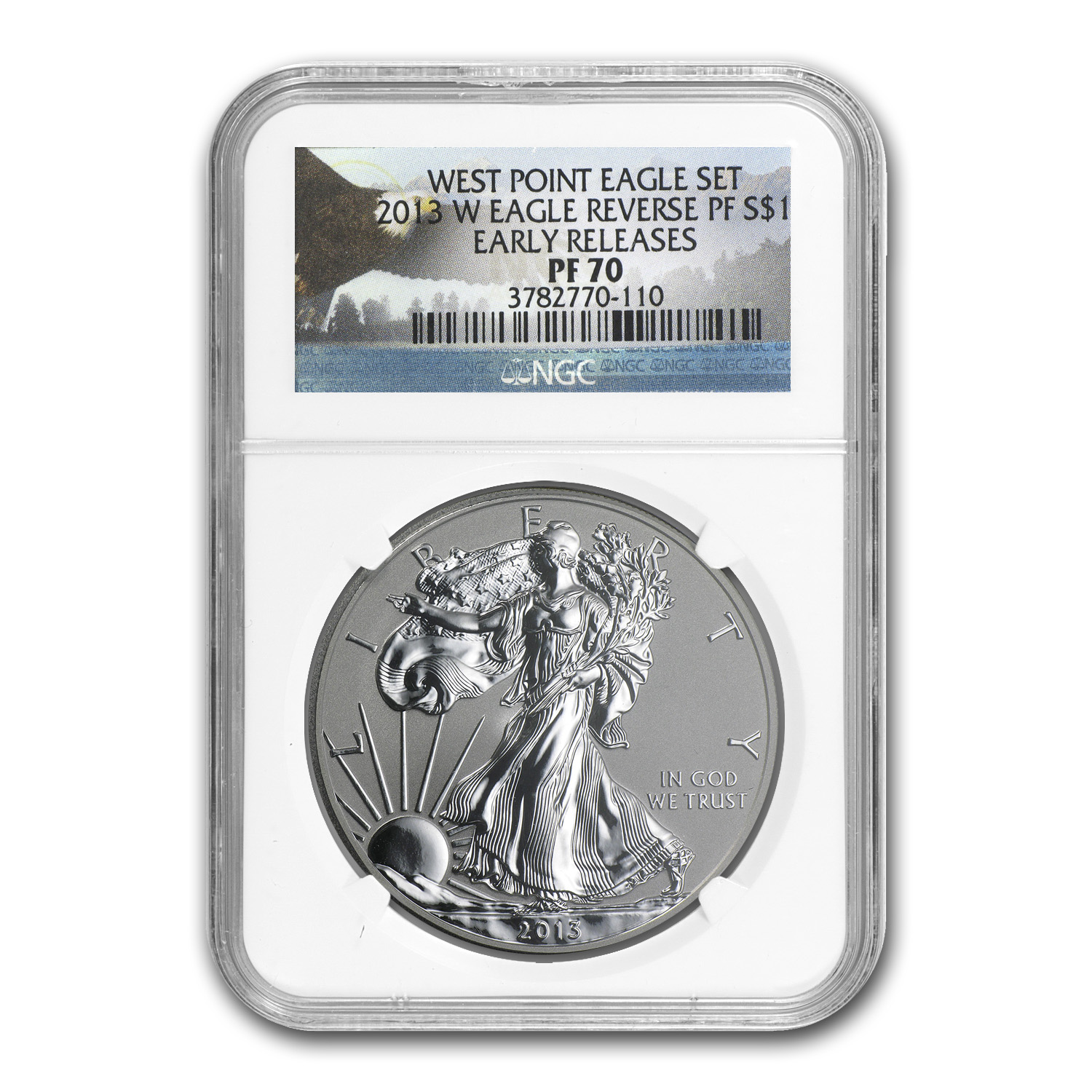 2013-W Reverse Proof Silver Eagle PF-70 NGC (Early Releases)