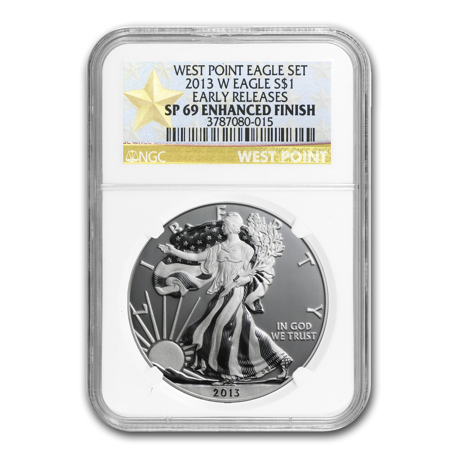 2013-W Silver American Eagle SP-69 NGC (ER, Enhanced Finish)