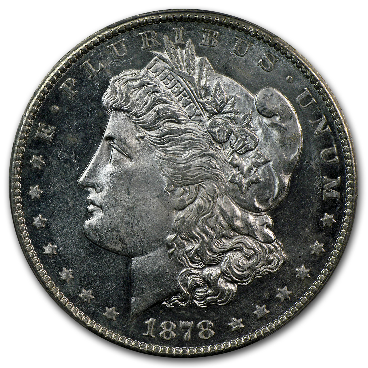 1878-S Morgan Dollar MS-61 PL Proof Like PCGS