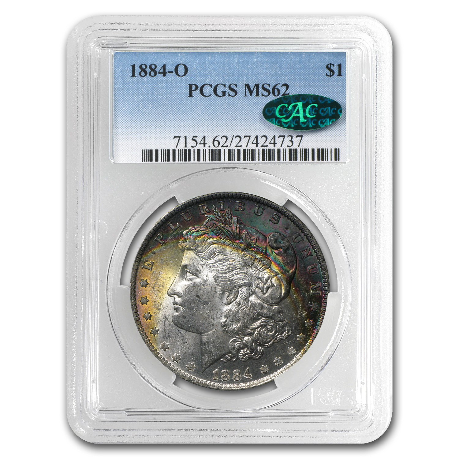 1884-O Morgan Dollar MS-62 PCGS (CAC)