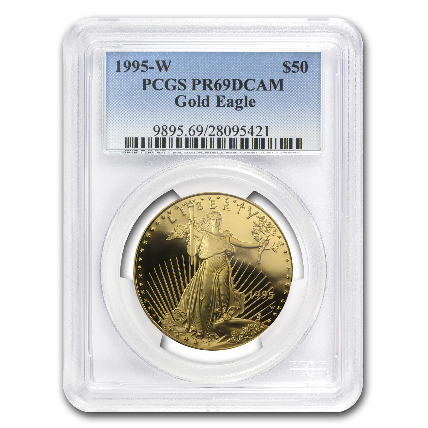 1995-W 4-Coin Proof Gold American Eagle Set PR-69 PCGS