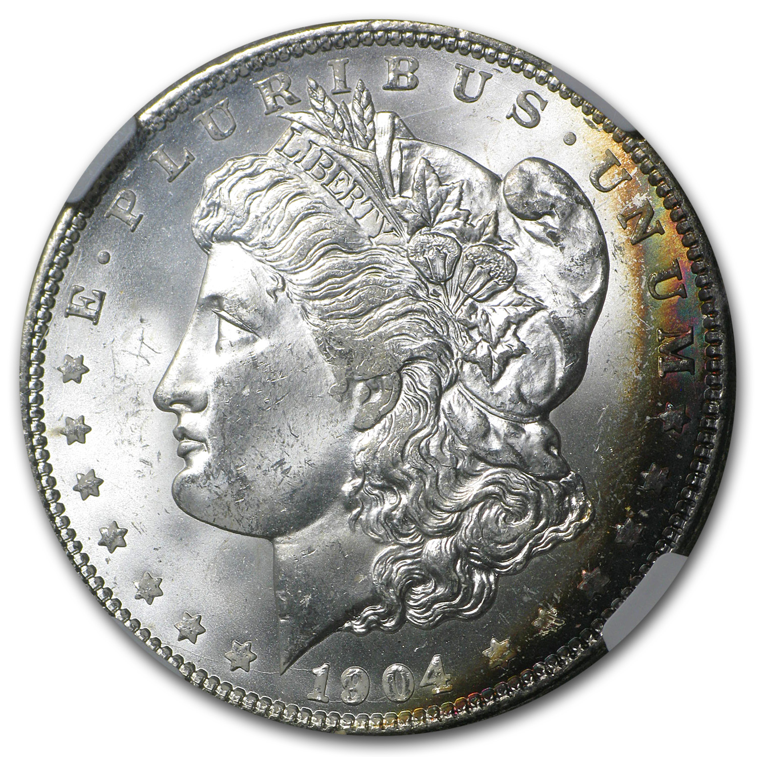 1904-O Morgan Dollar MS-64* Star NGC (Beautiful Obv Toning, CAC)