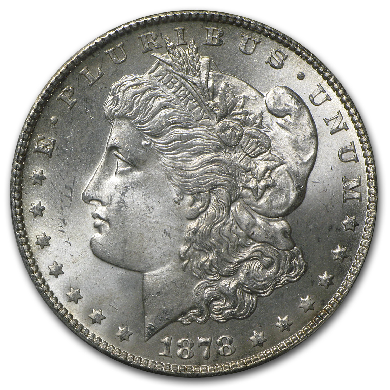 1878-S Morgan Dollar MS-64+ Plus PCGS