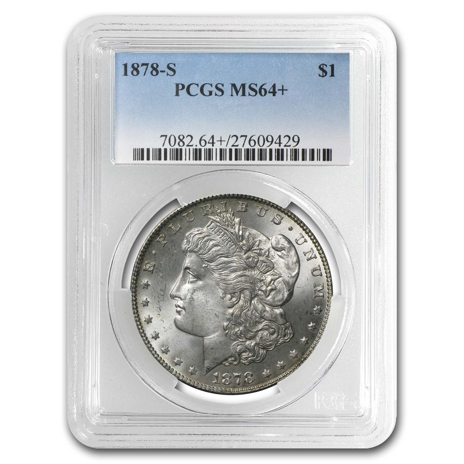 1878-S Morgan Dollar - MS-64+ Plus PCGS