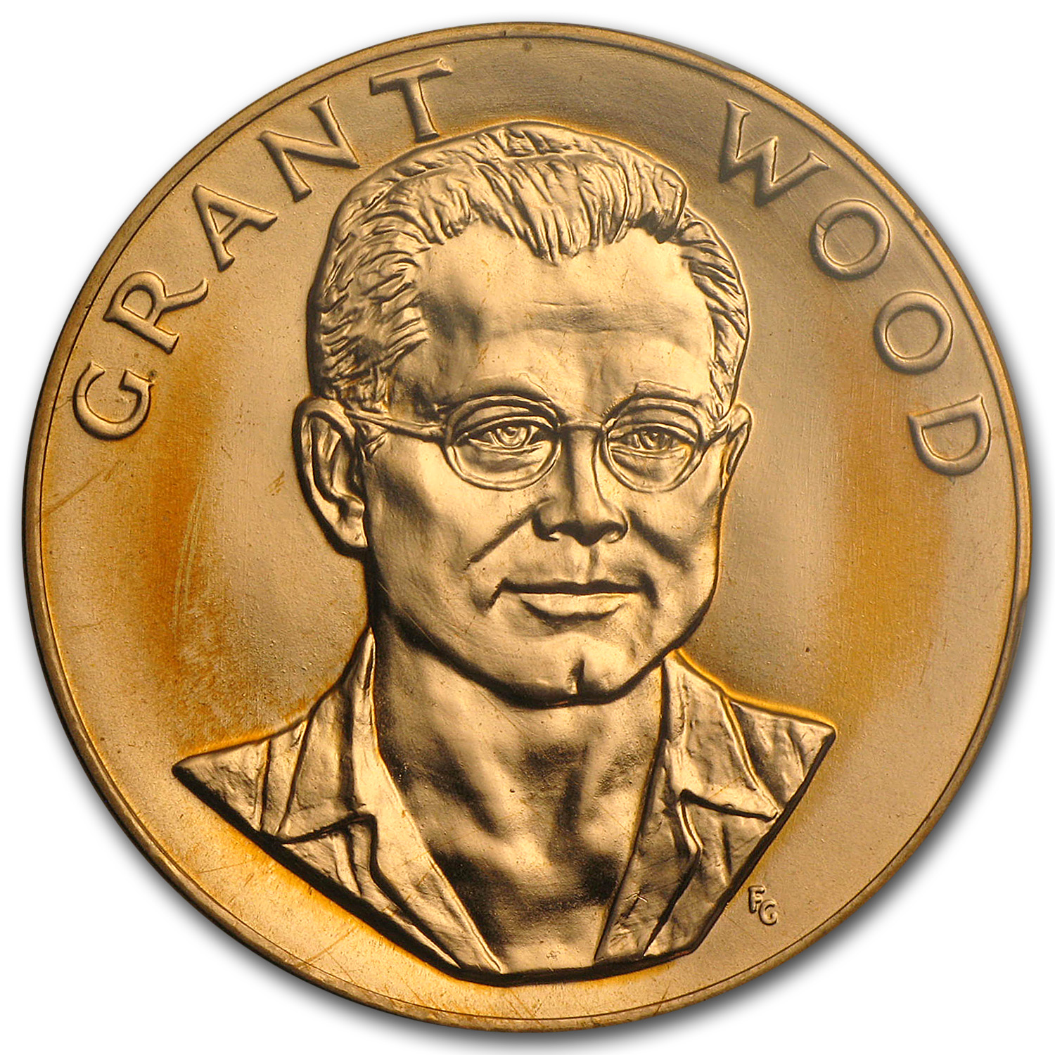 U.S. Mint 1 oz Gold Commem Arts Medal Grant Wood MS-65 PCGS