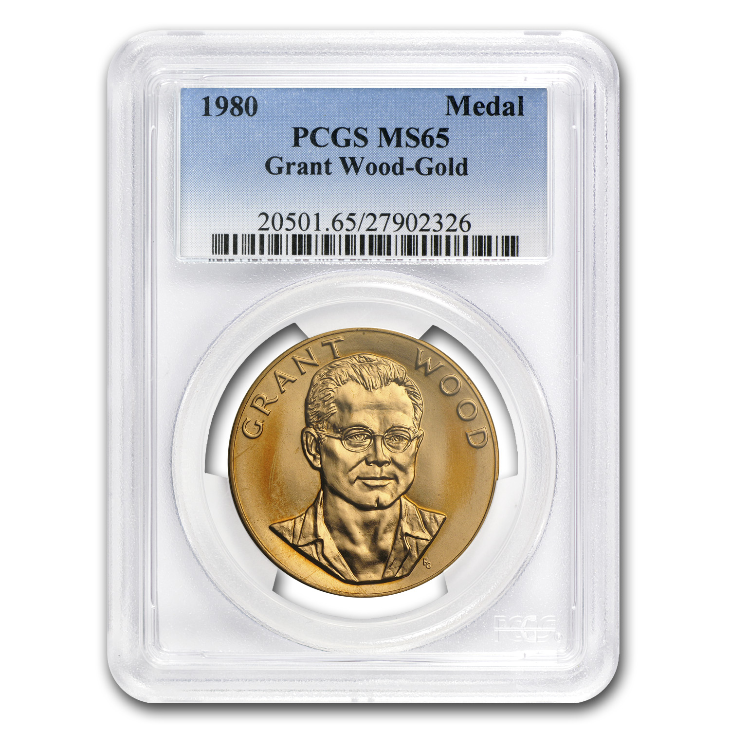 US Mint Gold 1oz Grant Wood Commemorative Arts Medals MS-65 PCGS