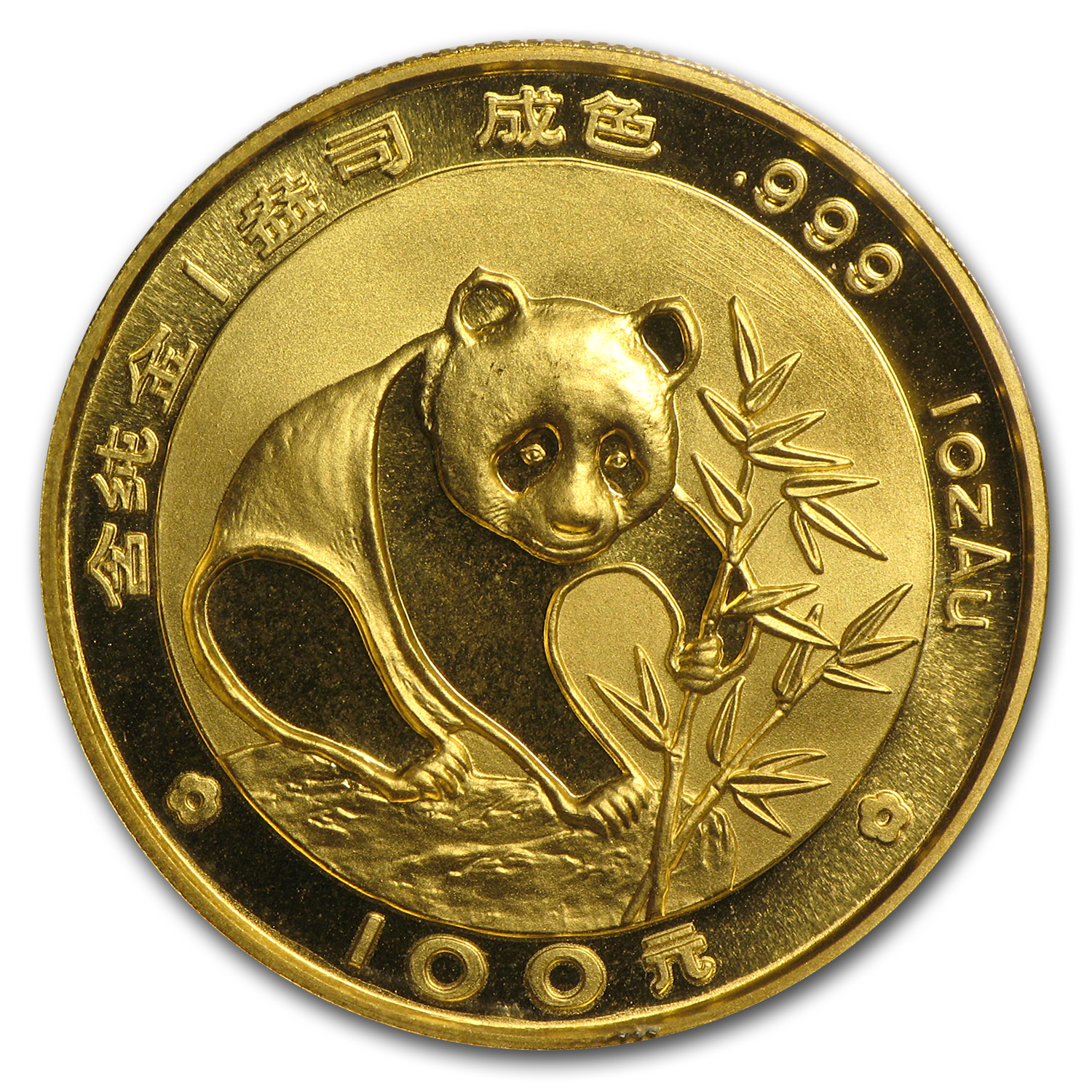 1988 1 oz Gold Chinese Panda (Sealed Sheet of 10)