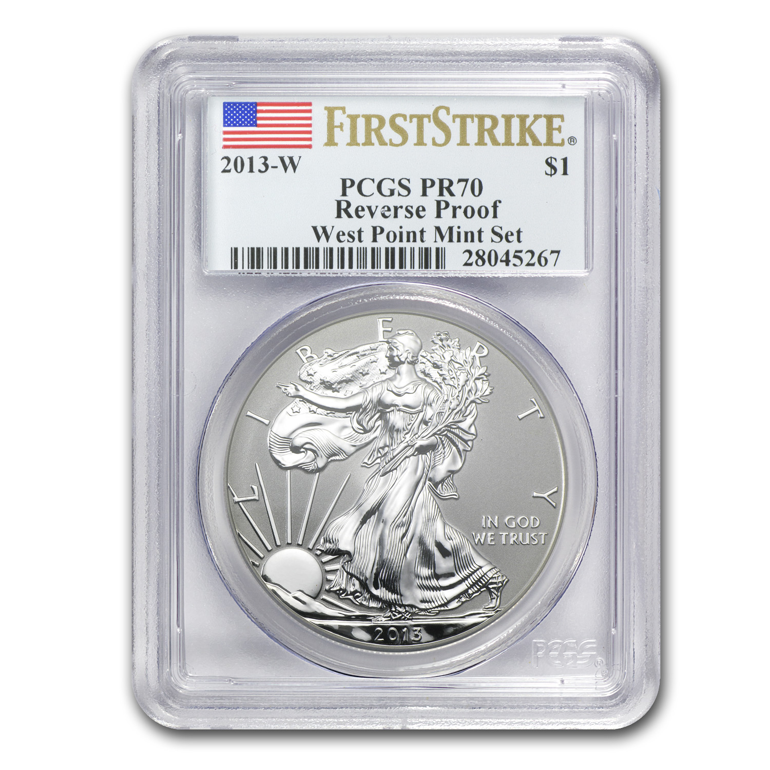 2013-W Reverse Proof Silver Eagle PR-70 PCGS (First Strike)