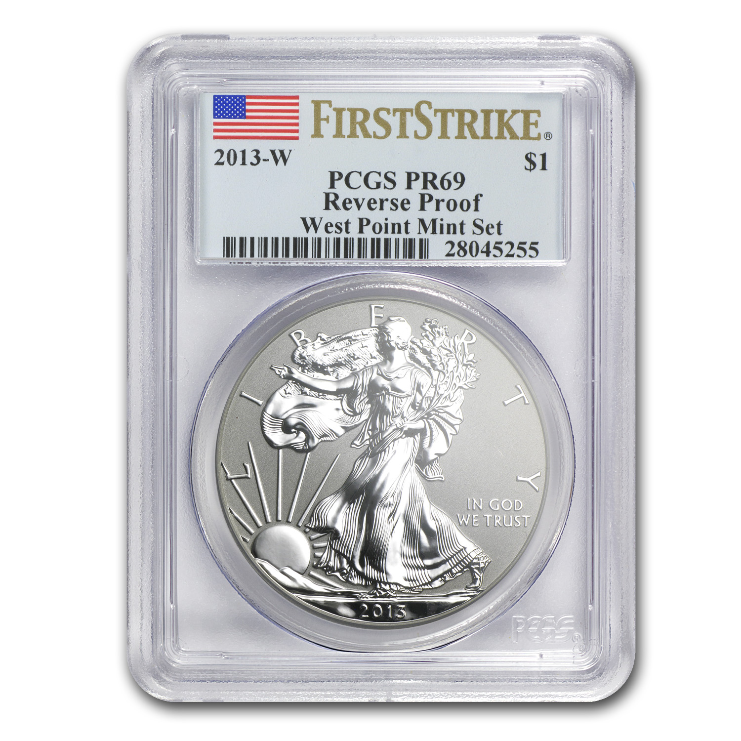 2013-W Reverse Proof Silver Eagle PR-69 PCGS (First Strike)