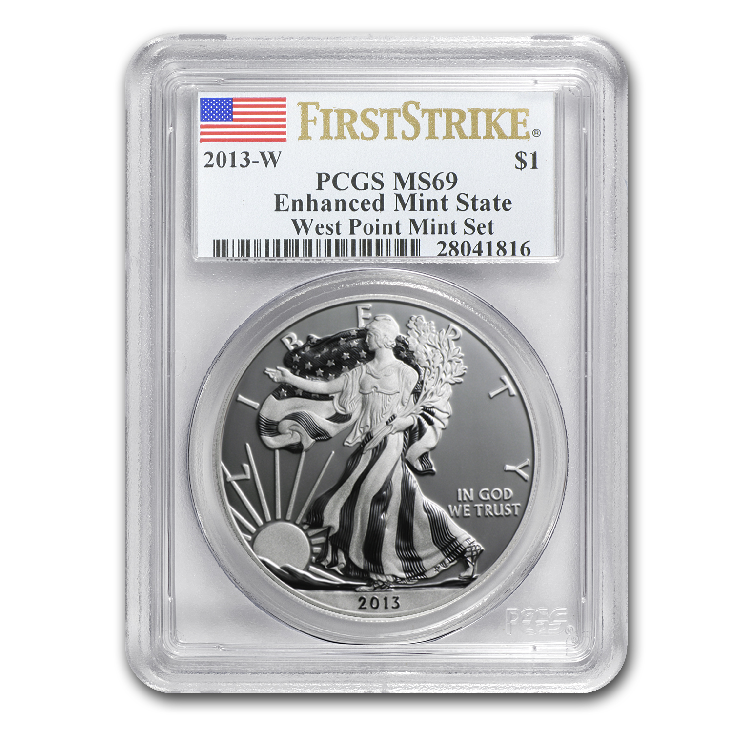 2013-W Silver Eagle MS-69 PCGS (1st Strike, Enhanced Finish)