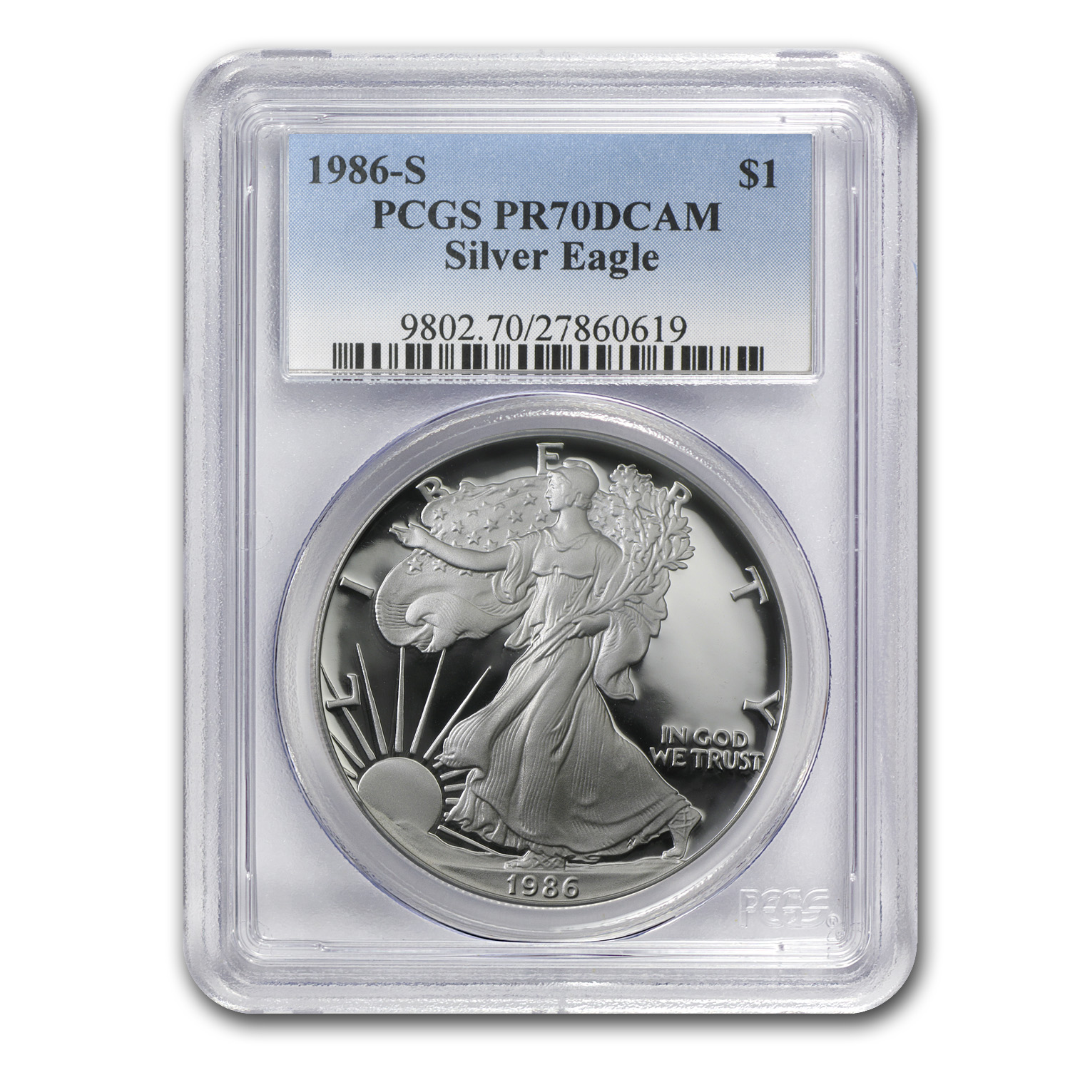 1986-2014 28-Coin Proof Silver American Eagle Set PR-70 PCGS