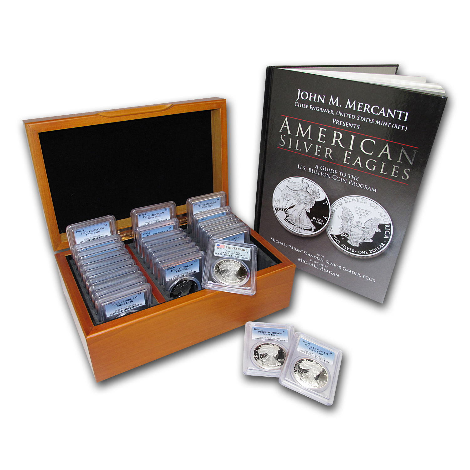 1986-2013 27-Coin Proof Silver American Eagle Set PR-70 PCGS