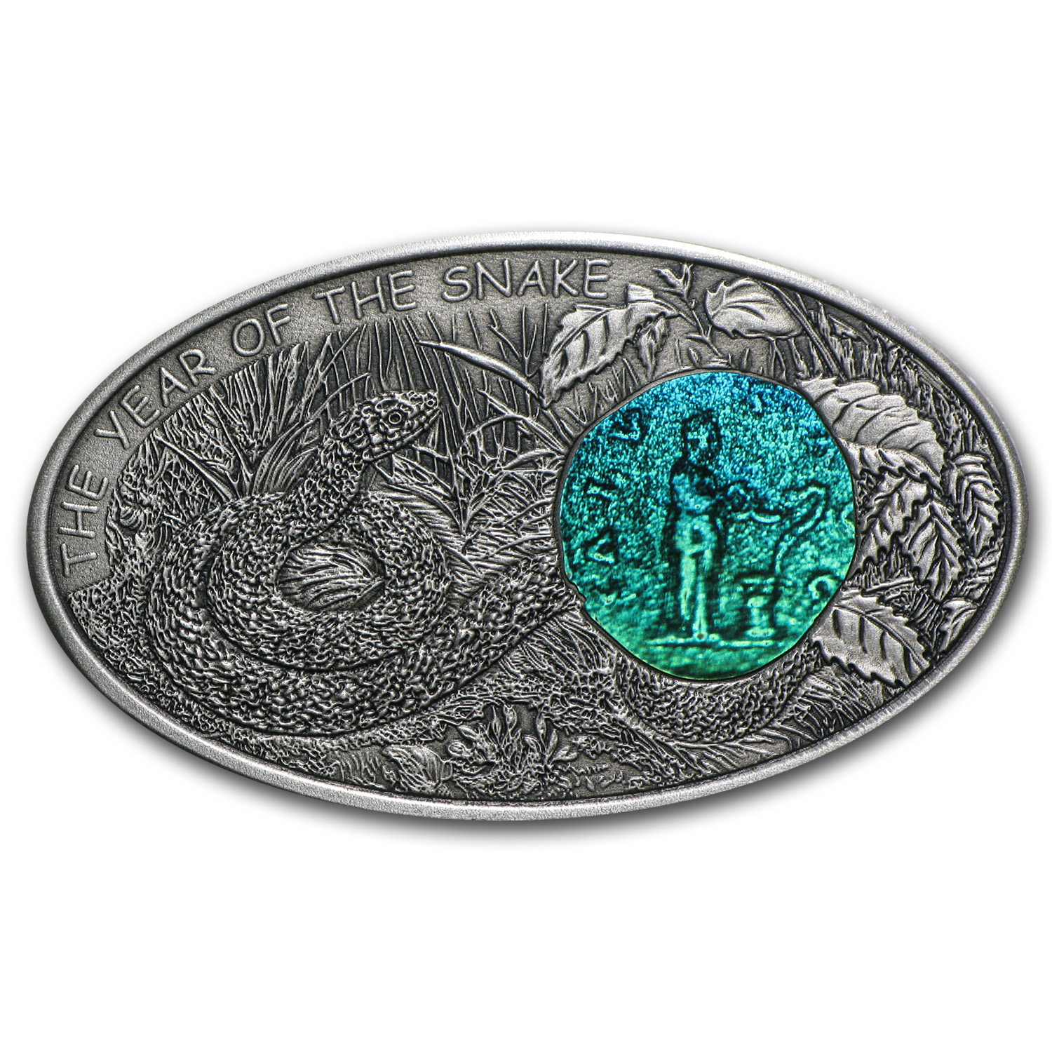 Fiji 2013 Silver $10 Year of the Snake - Salus Snake