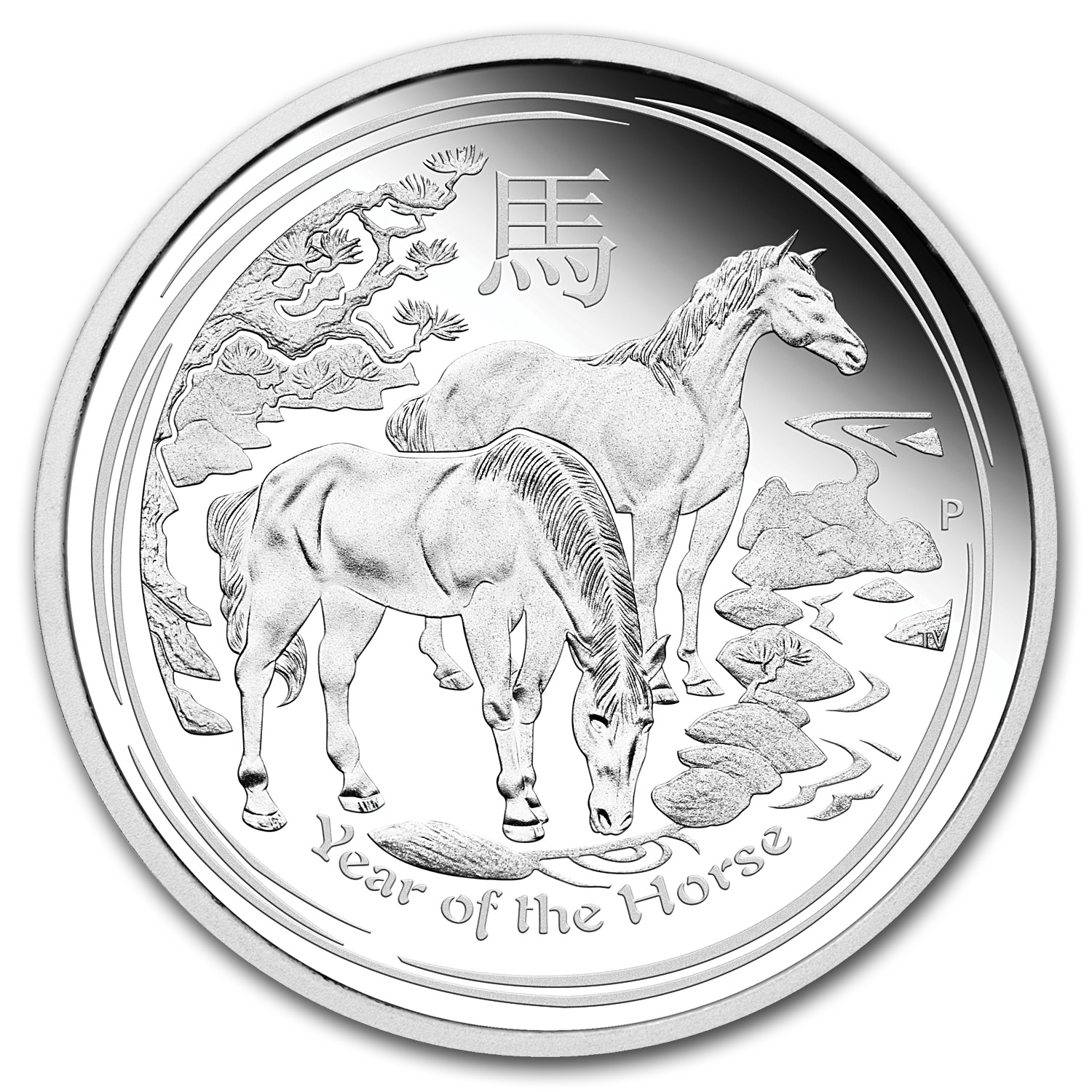 2014 Year of the Horse - 1 Kilo Proof Silver Coin (SII)