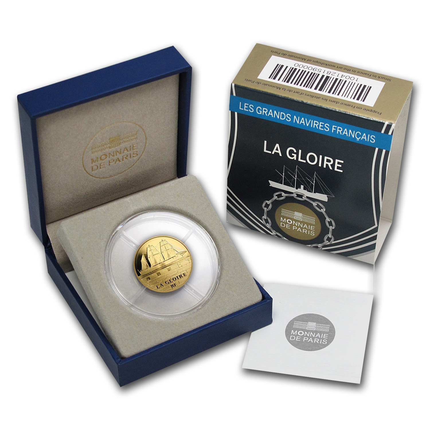 2013 1/4 oz Gold Proof Great French Ships - La Gloire