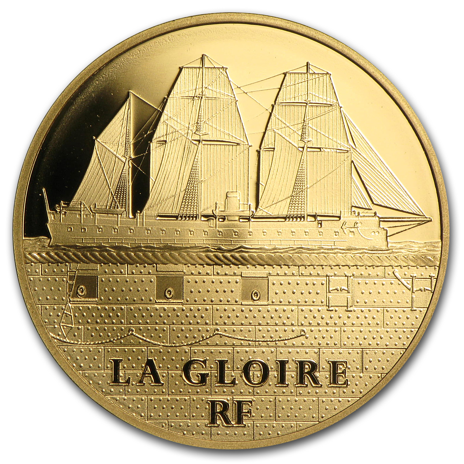 2013 1/4 oz Proof Gold Great French Ships La Gloire