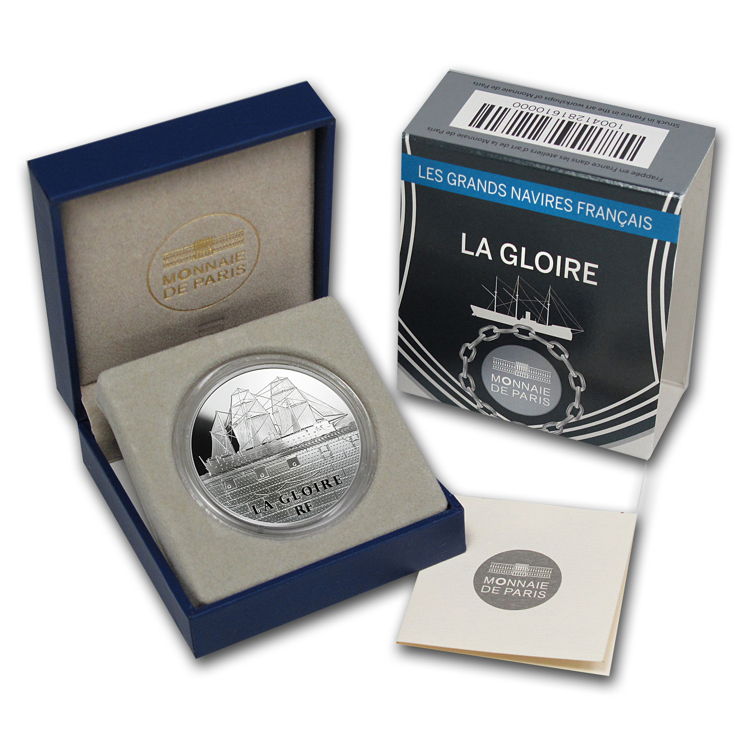 2013 Silver €10 Great French Ships Proof (La Gloire)