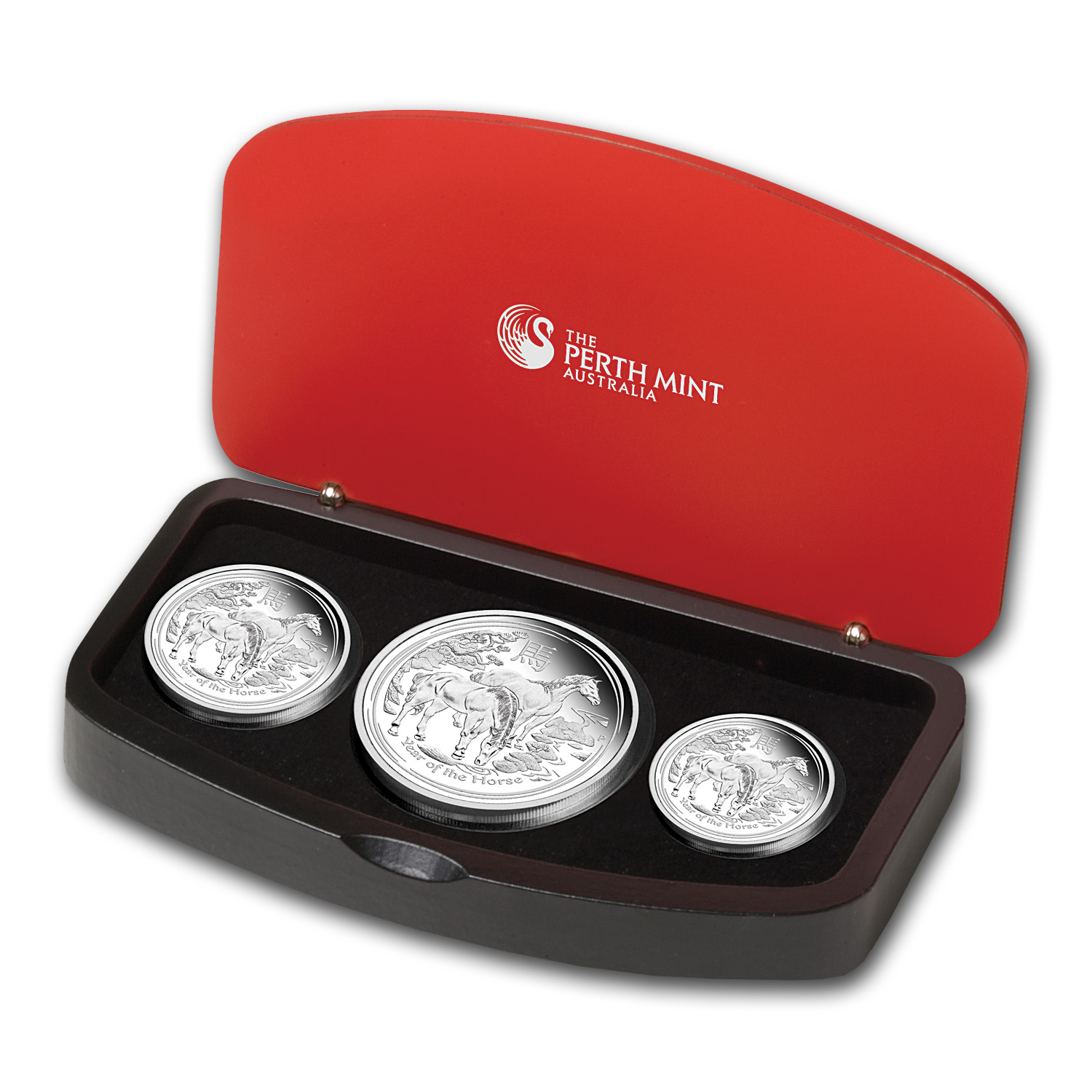 2014 Australia 3-Coin Silver Year of the Horse Proof Set