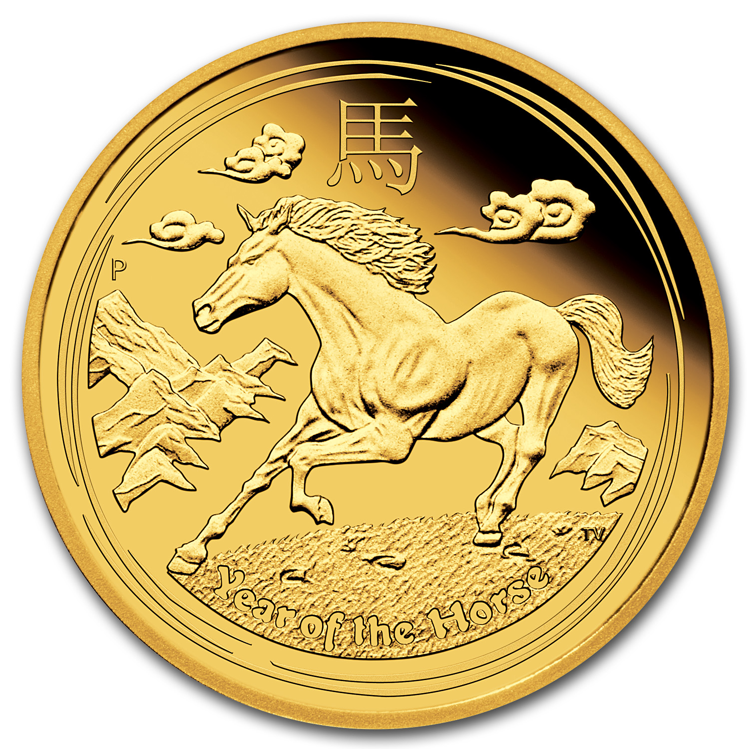 2014 Gold 1/4 oz Lunar Year of the Horse Proof (Series II)