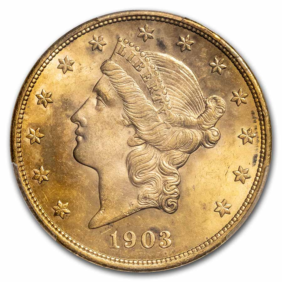 1903 $20 Liberty Gold Double Eagle MS-64 PCGS