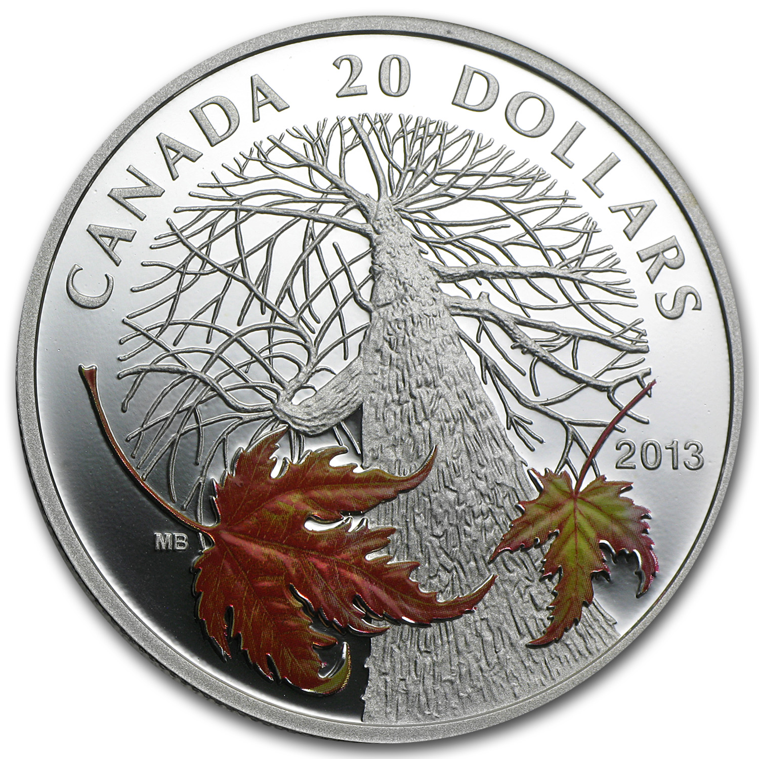 2013 Canada 1 oz Silver $20 Maple Canopy Autumn