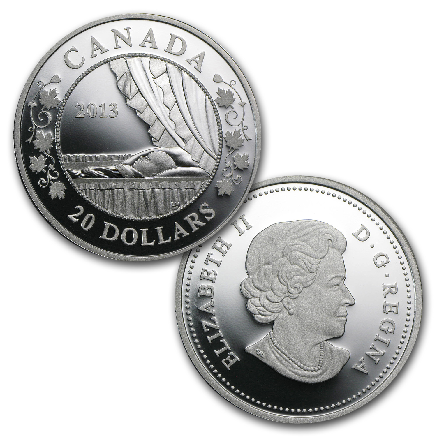 2013 3-Coin Silver Canadian Birth of the Royal Infant Proof Set