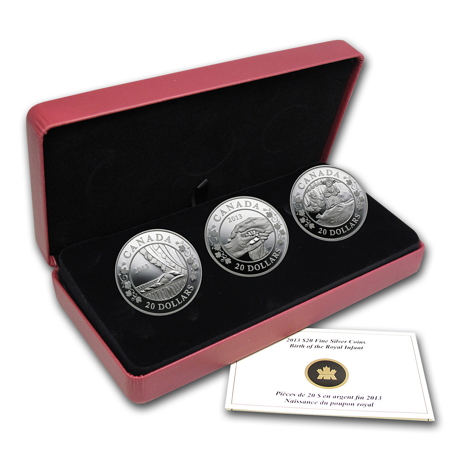 2013 Canada 3-Coin Silver Birth of the Royal Infant Proof Set
