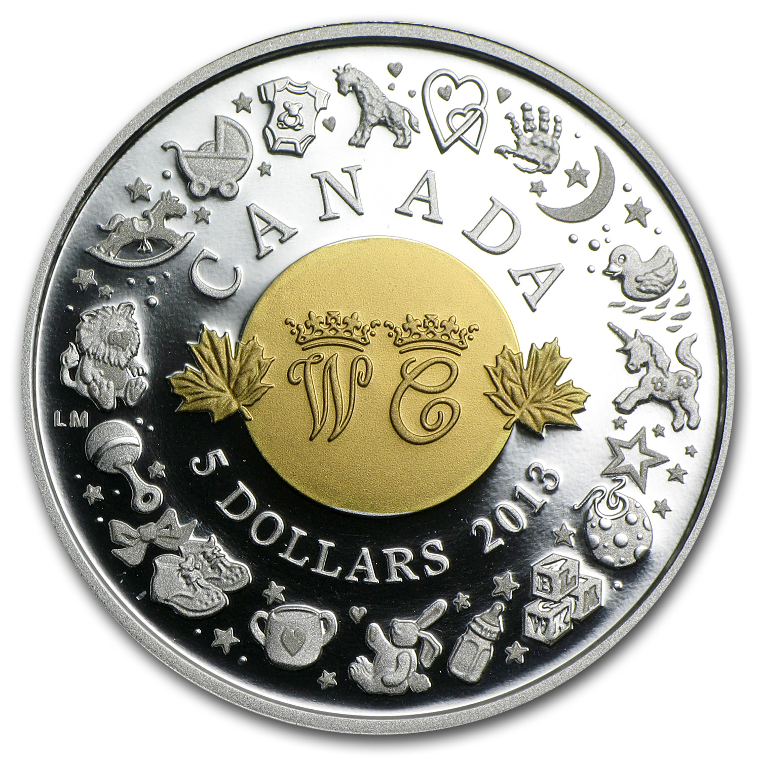 2013 Silver Proof Canadian $5 Royal Infant Toys
