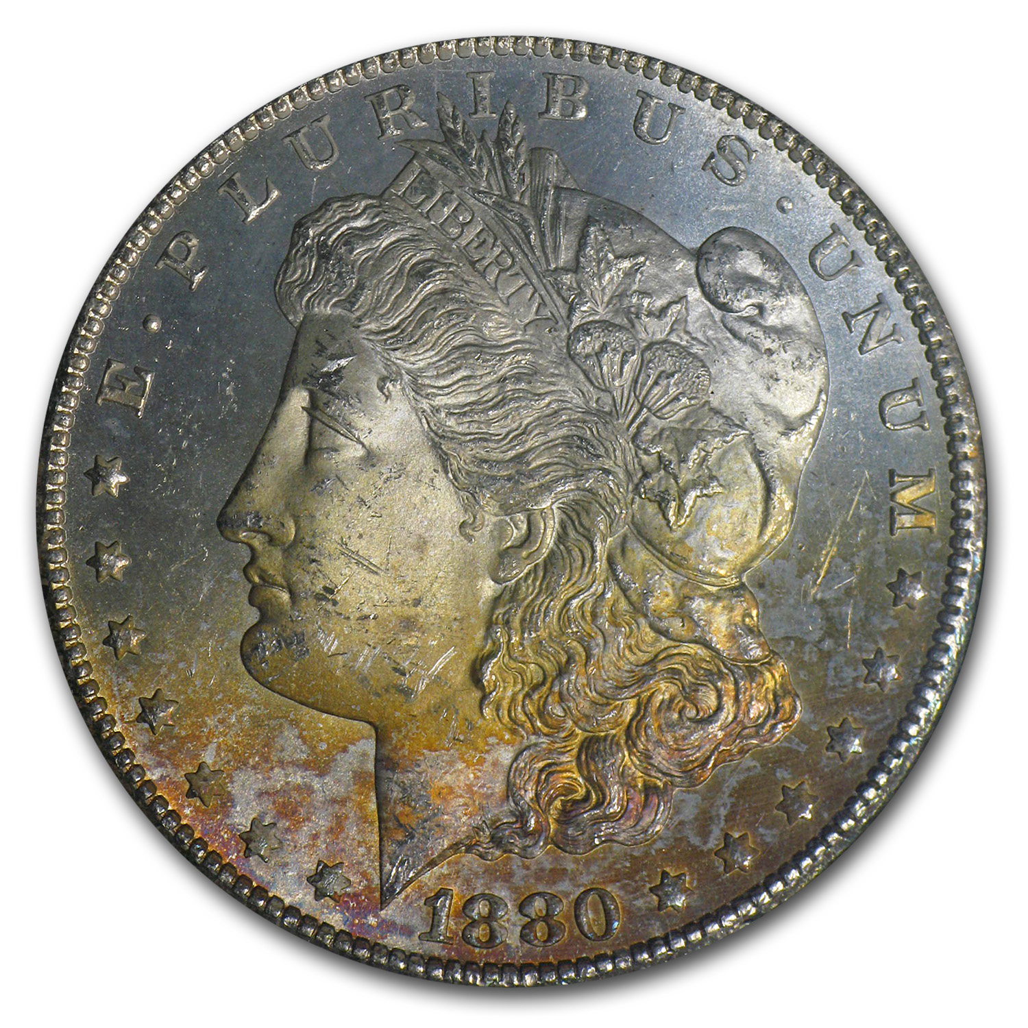 1880-CC Morgan Dollar MS-64 NGC (Pink Toning, GSA Certified)