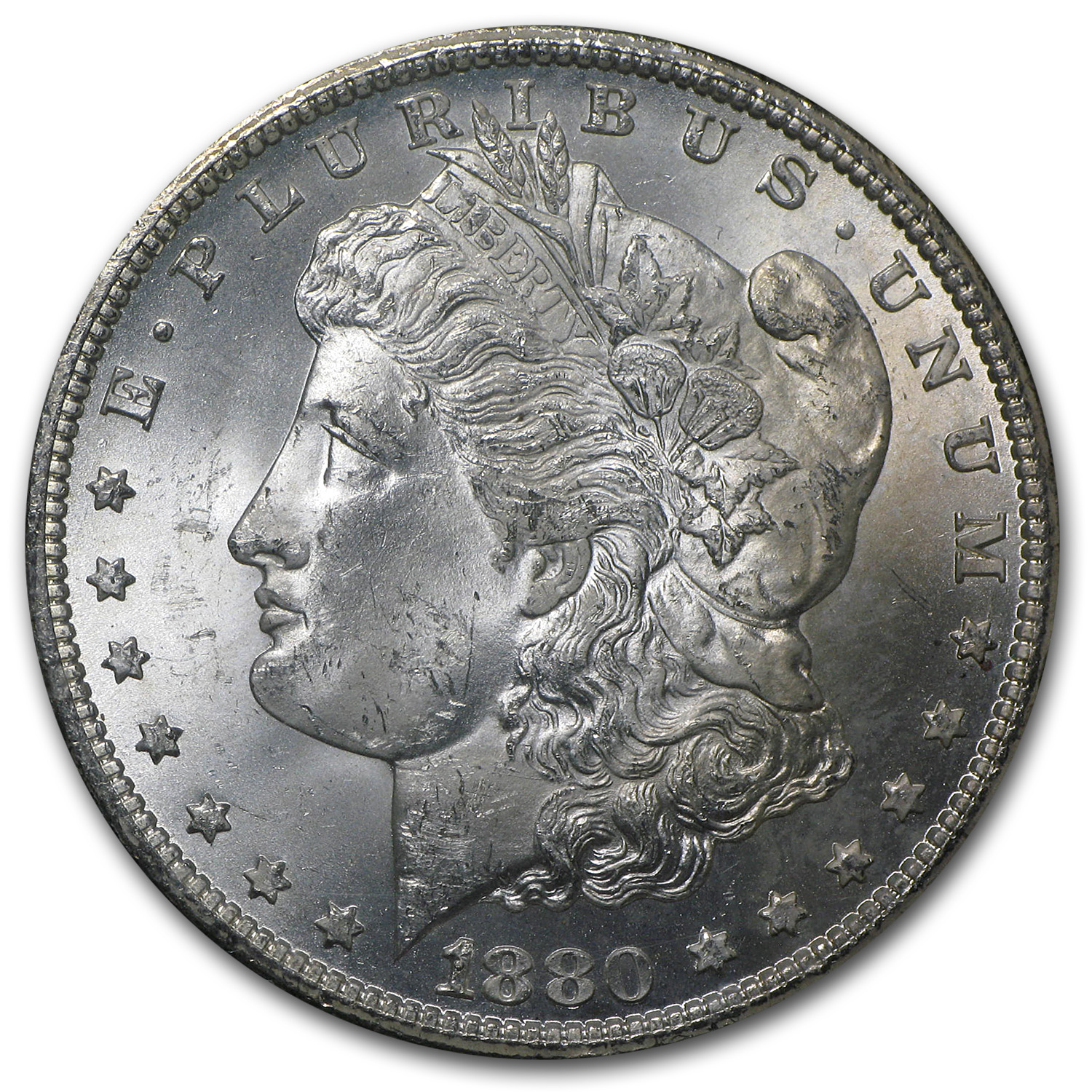 1880-CC Morgan Dollar MS-63 NGC (Beautiful Toning, GSA Certified)