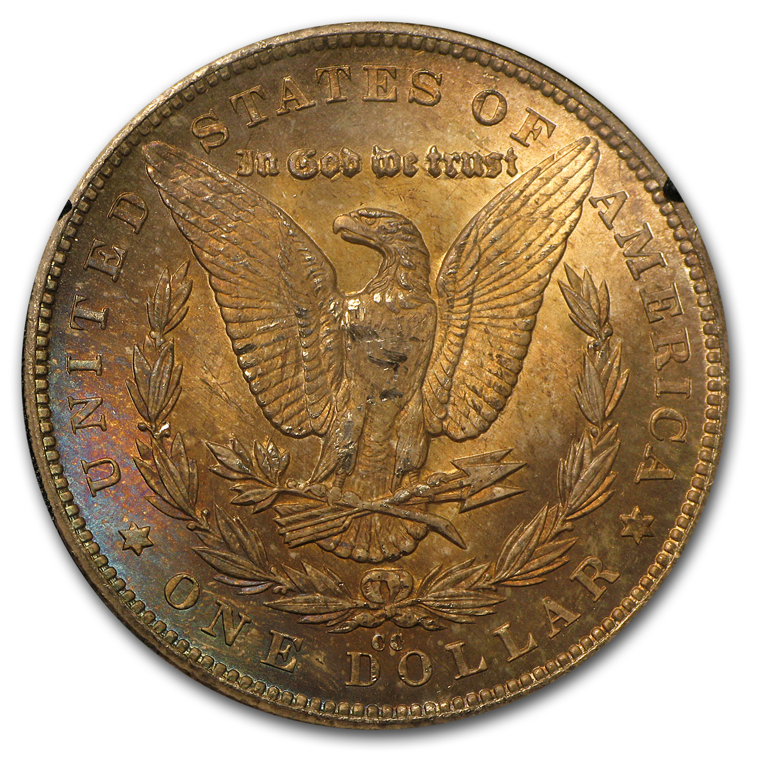 1880-CC Morgan Dollar MS-63 NGC (Beautiful Toning, GSA)