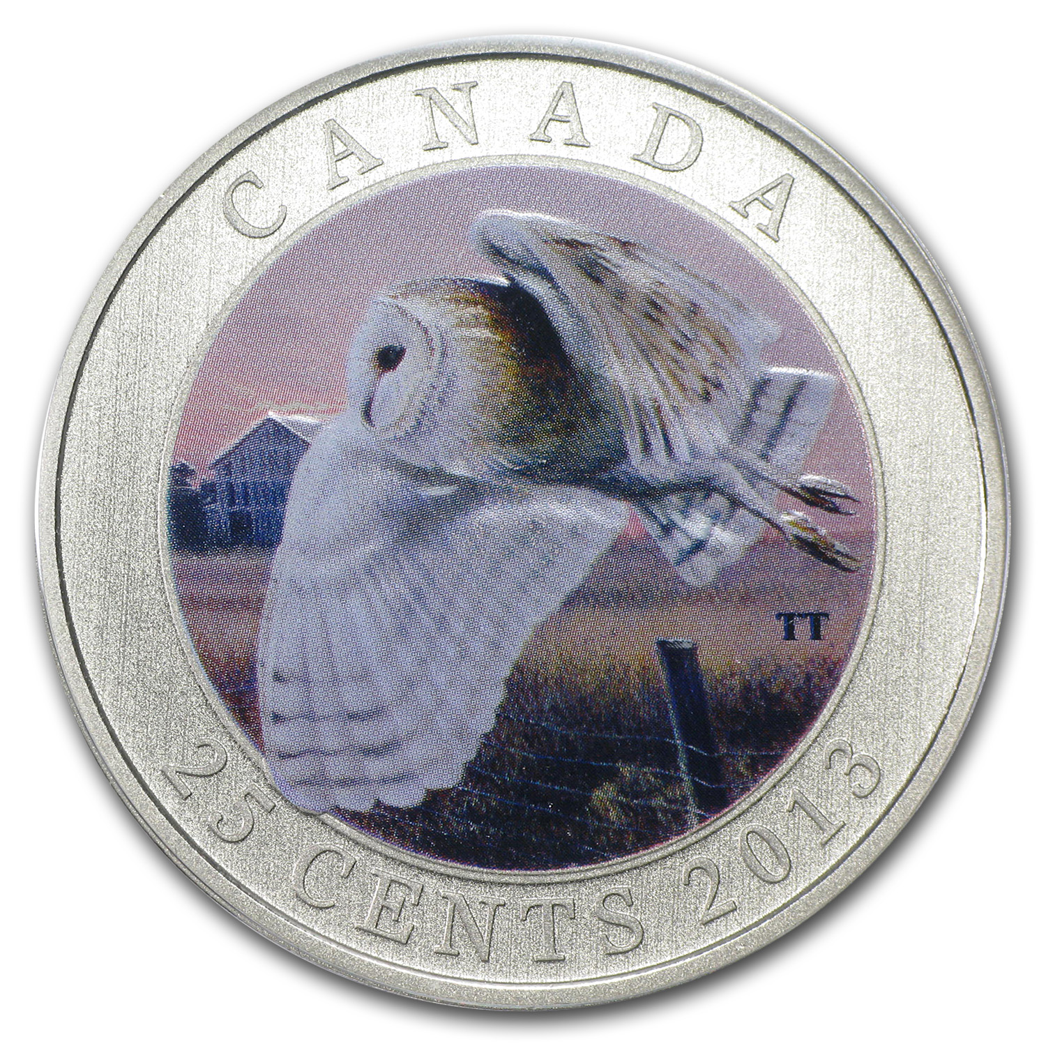 2013 Birds of Canada $0.25 Barn Owl (Coloured)